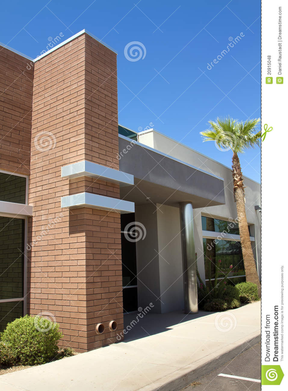 Modern Corporate Office Building Entrance Royalty Free