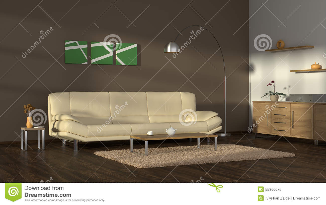 Modern Cosy Living Room Stock Illustration Image 55866675