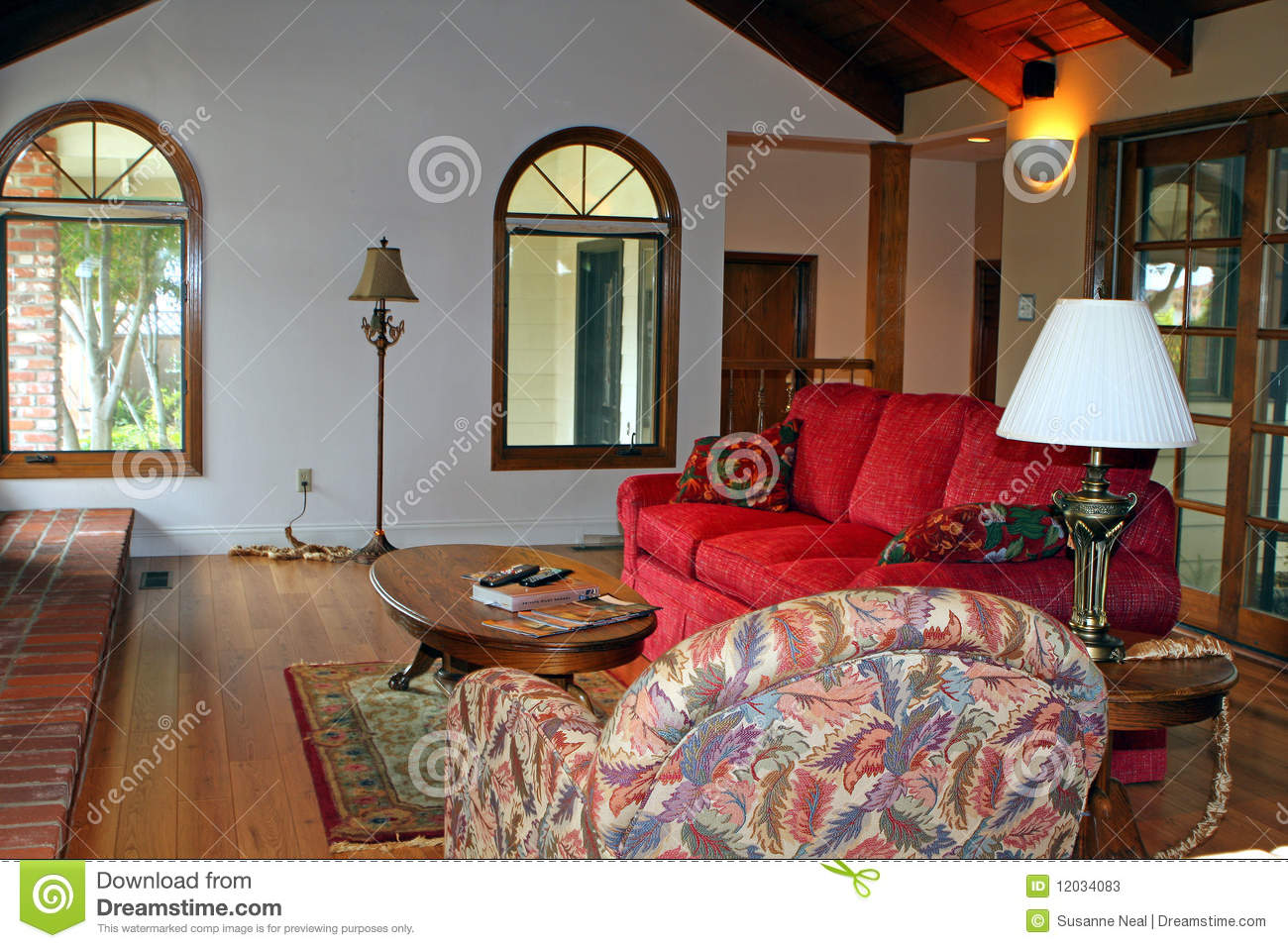Modern Country Living Room Stock Image Image Of Laminate 12034083