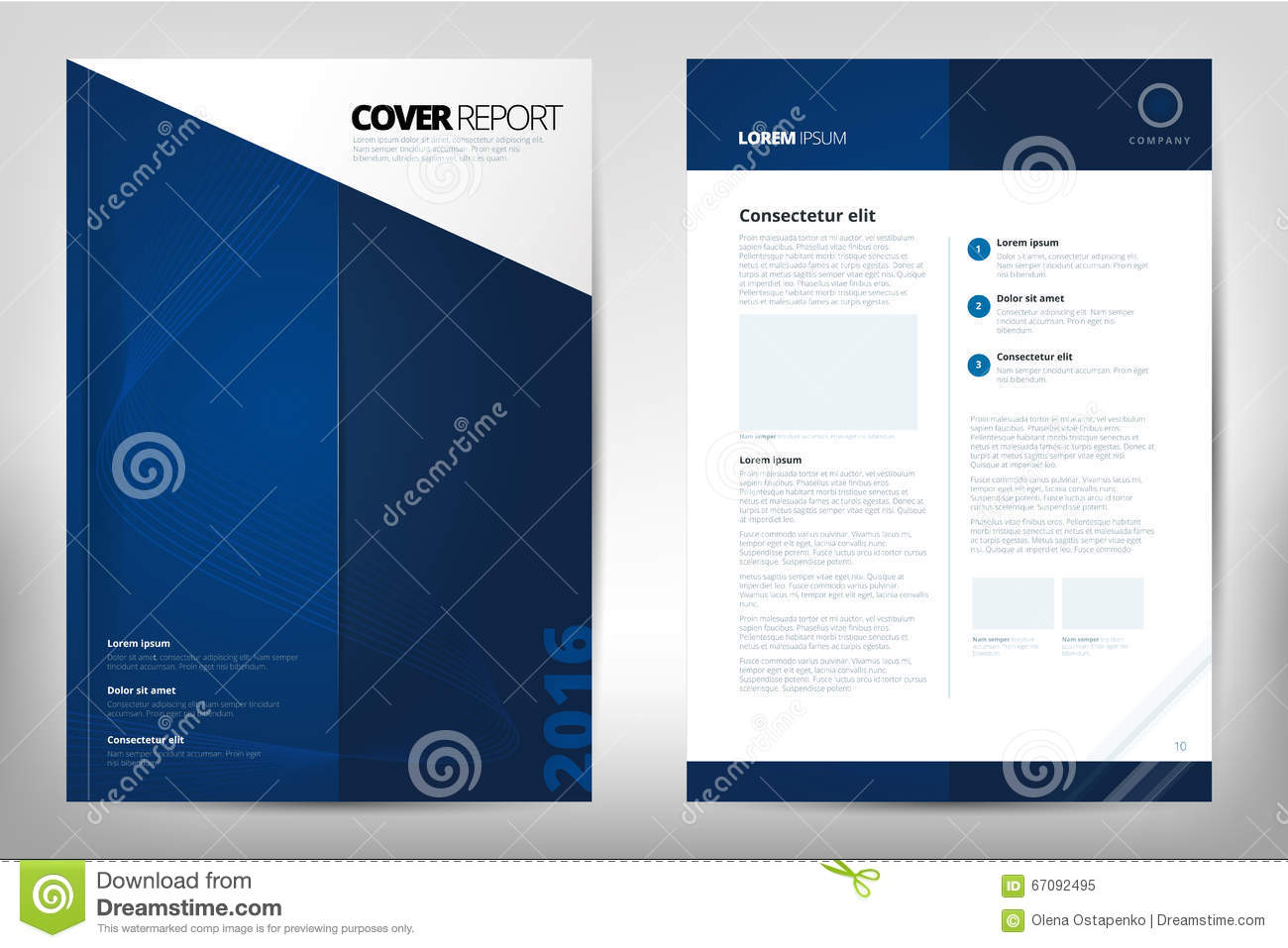 Modern Cover Annual Report Brochure business brochure Catalog Cover flyer design size A4 front page and back page Easy to use and edit