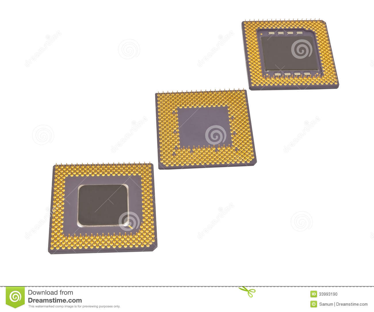Modern CPU Stock Photo...