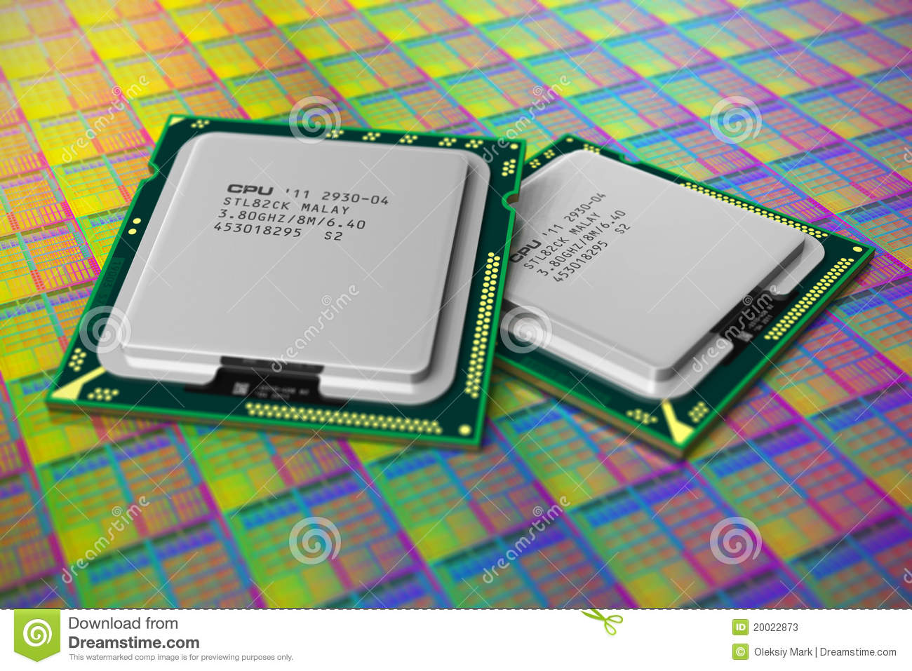 Modern CPUs On Silicon...