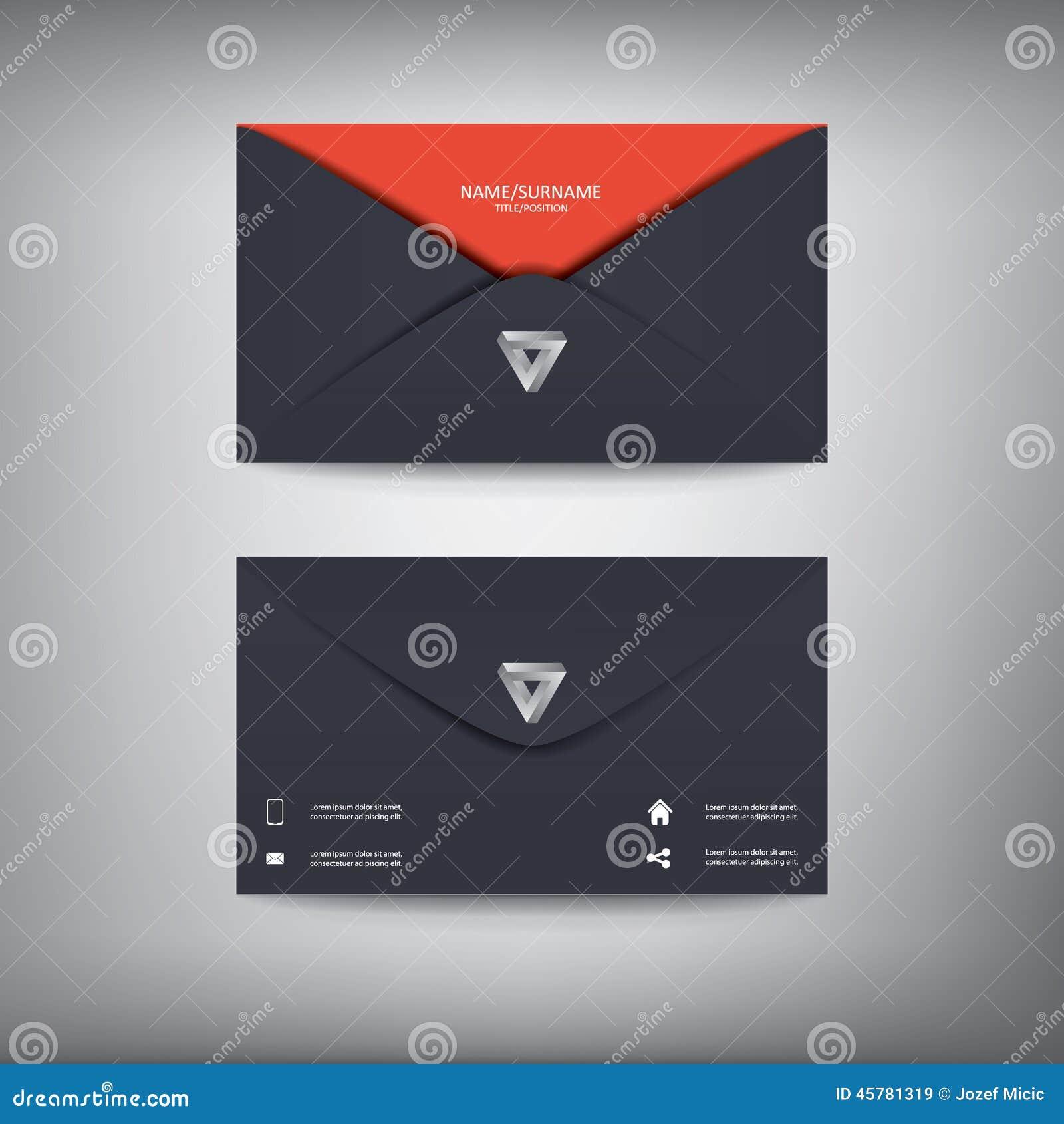 Modern creatief adreskaartjemalplaatje in envelop
