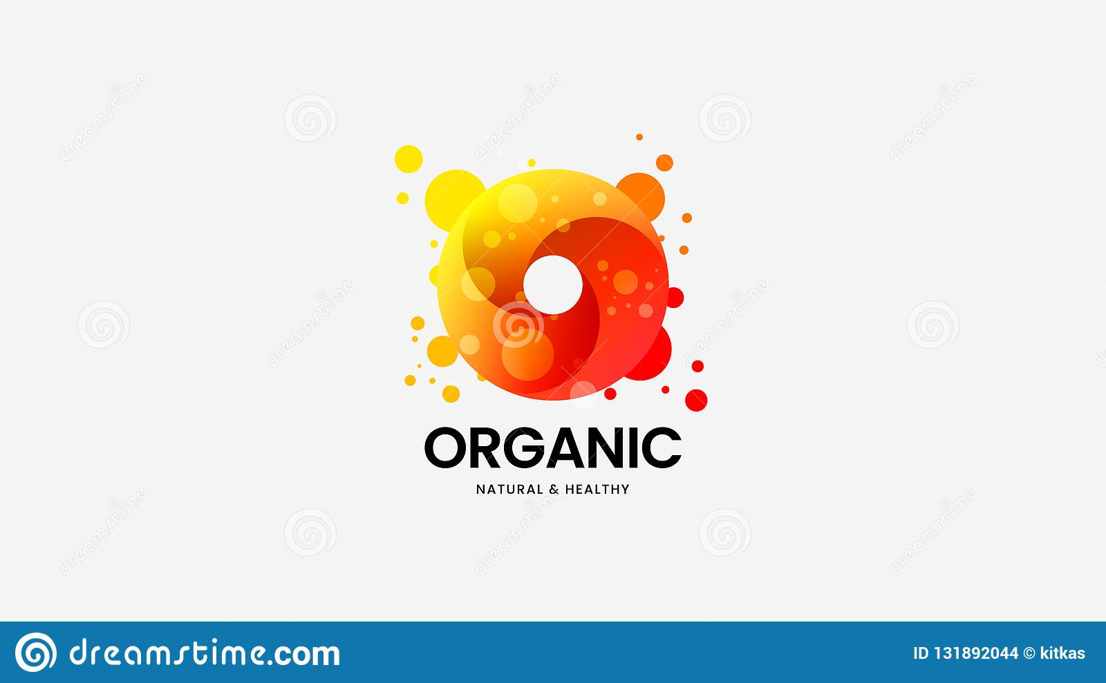 Ring organic vector logo sign for corporate identity. Logotype emblem illustration. Fashion colorful badge design layout.