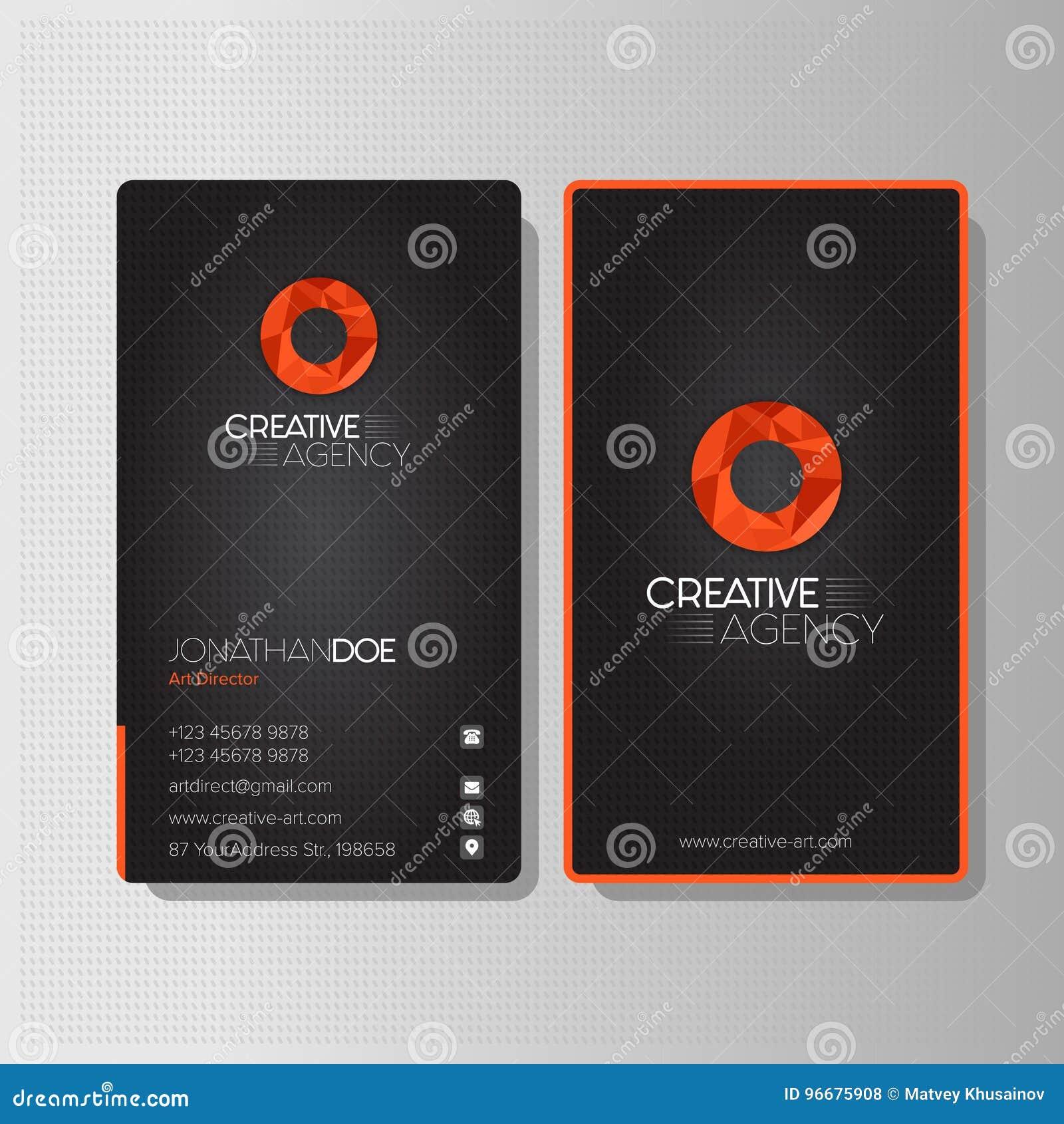 Modern Creative Agency Business Card Stock Vector