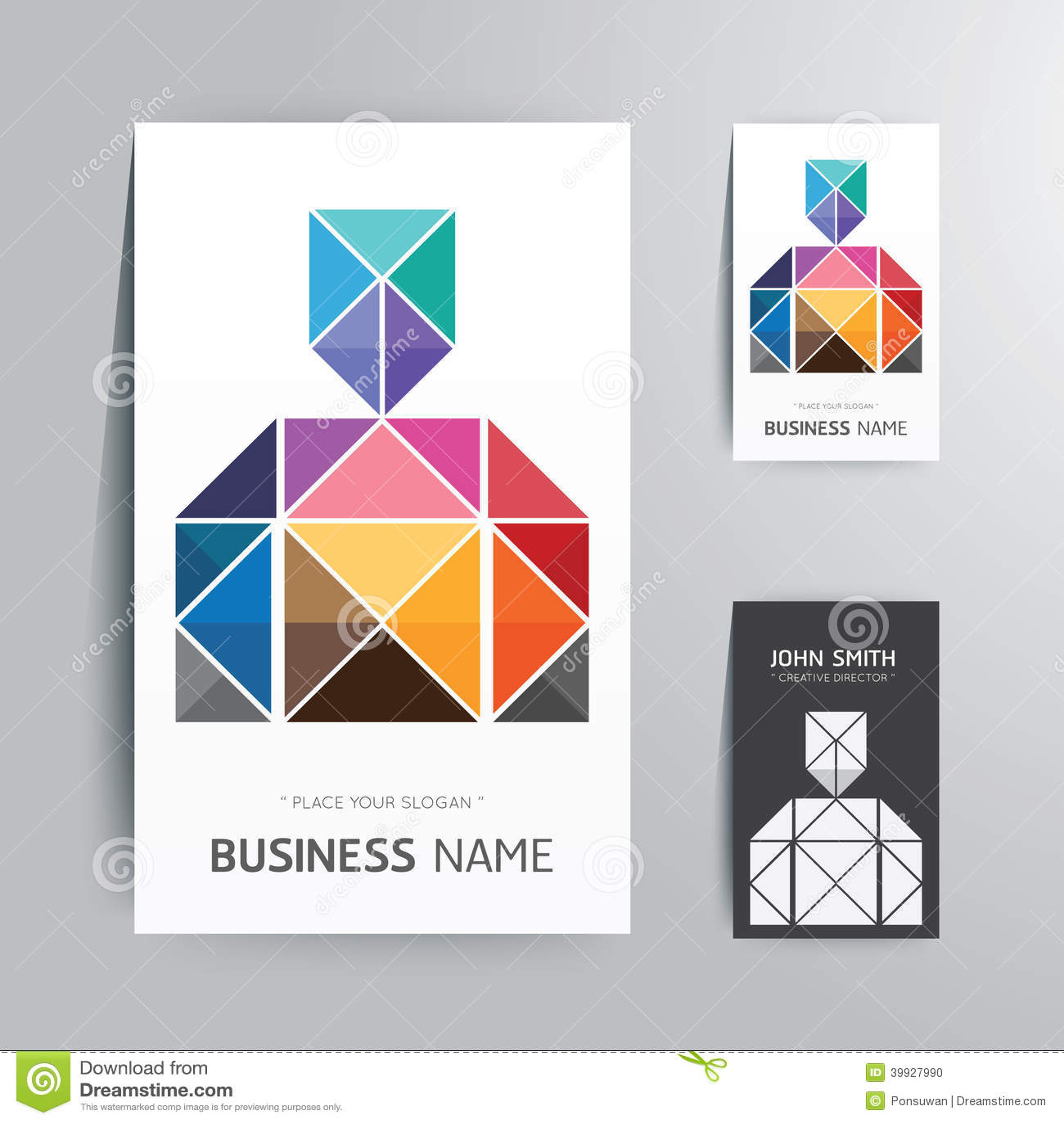 Modern creative business card man shape design stock vector modern creative business card man shape design magicingreecefo Choice Image
