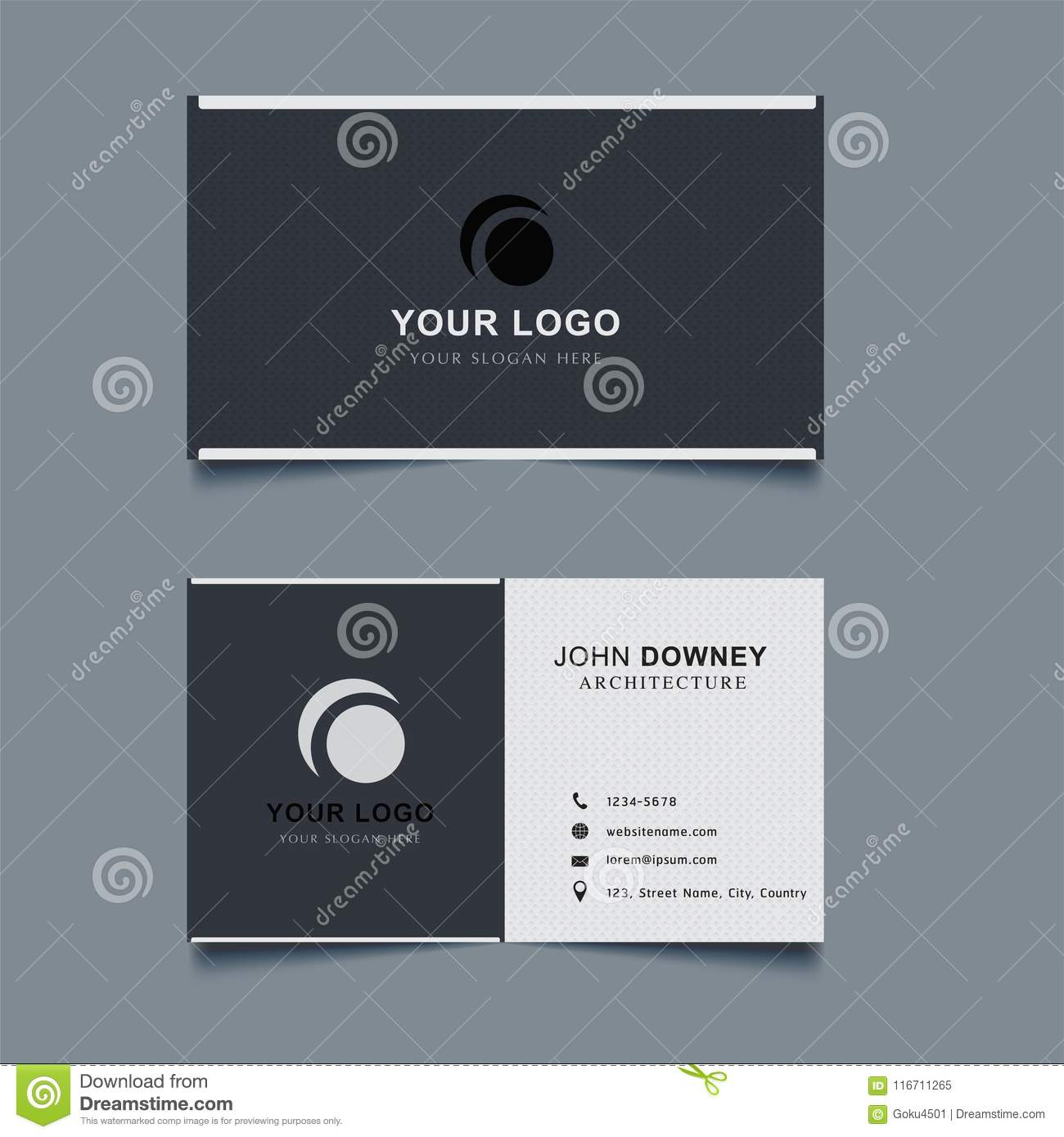 Modern Creative Business Card Template Double Sided Stock