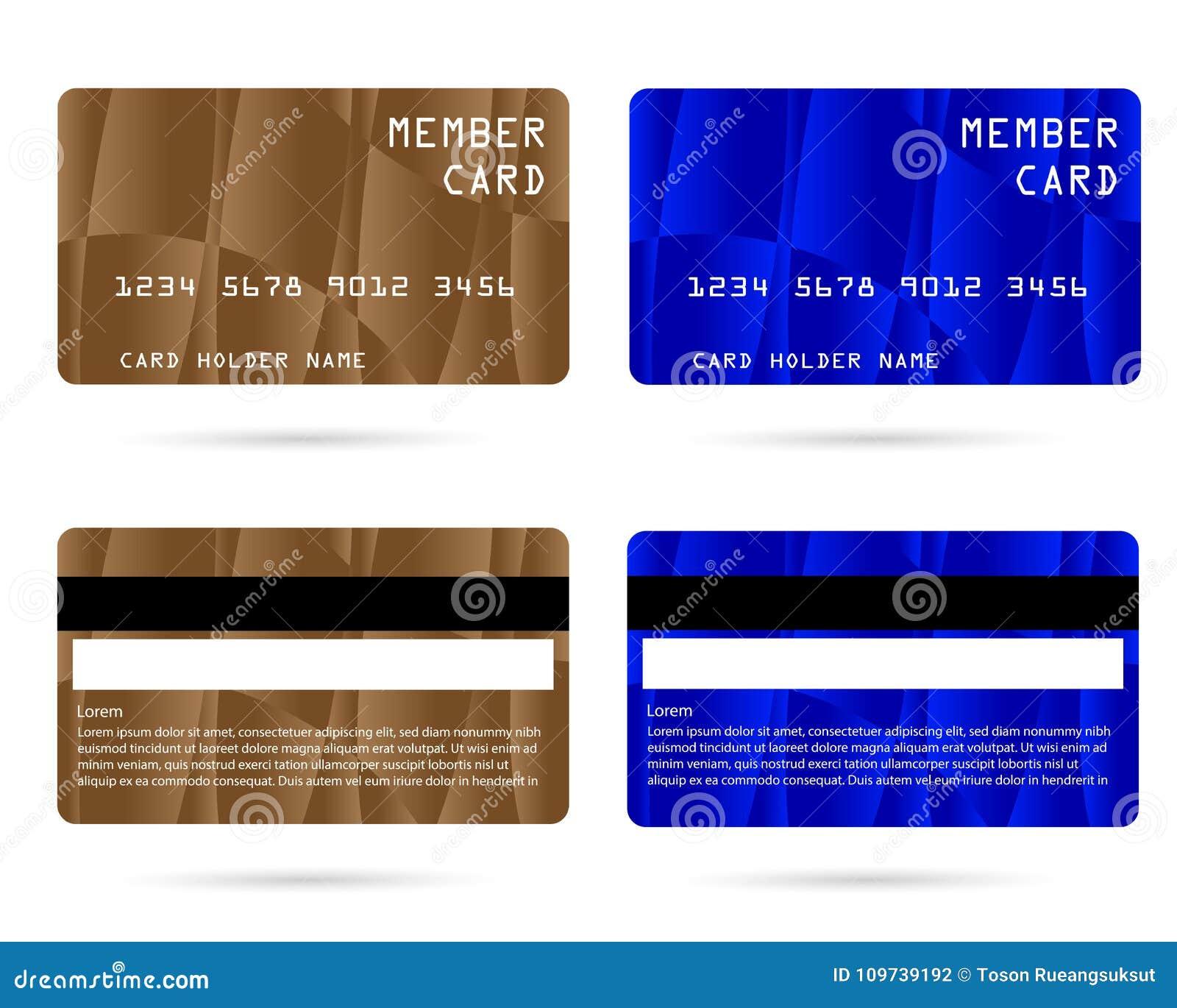 Modern Credit Card Business VIP Card Member Card Stock Vector