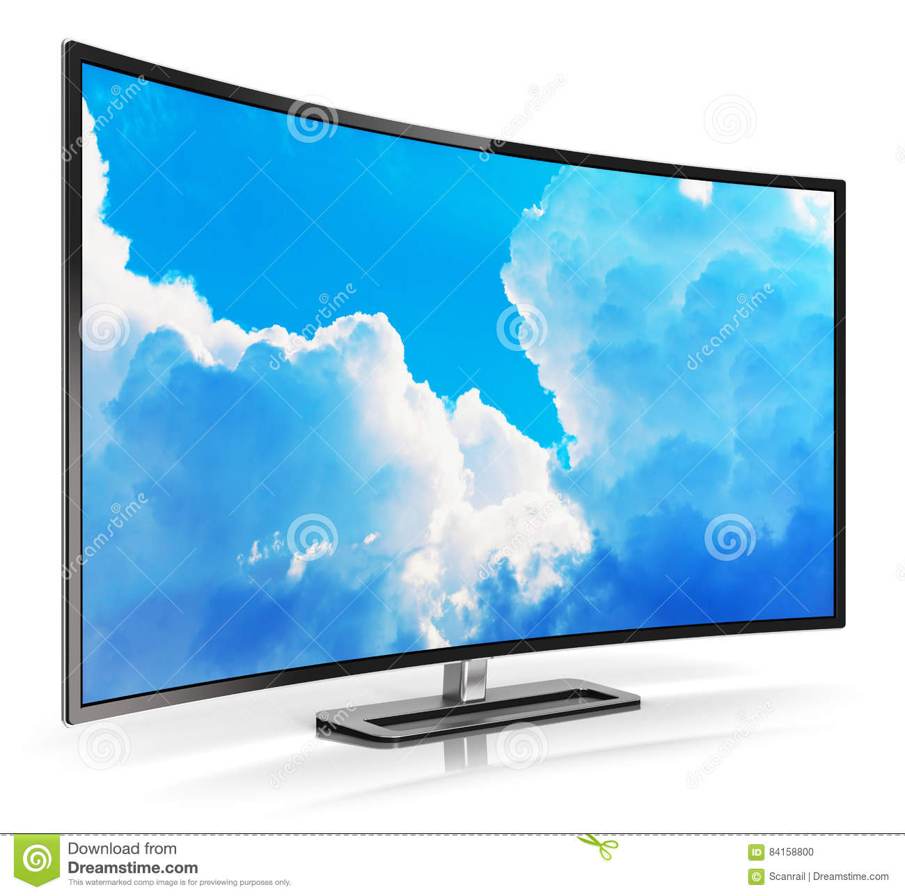 Modern curved 4k ultrahd tv stock illustration image 84158800 - Ultra high def tv prank ...