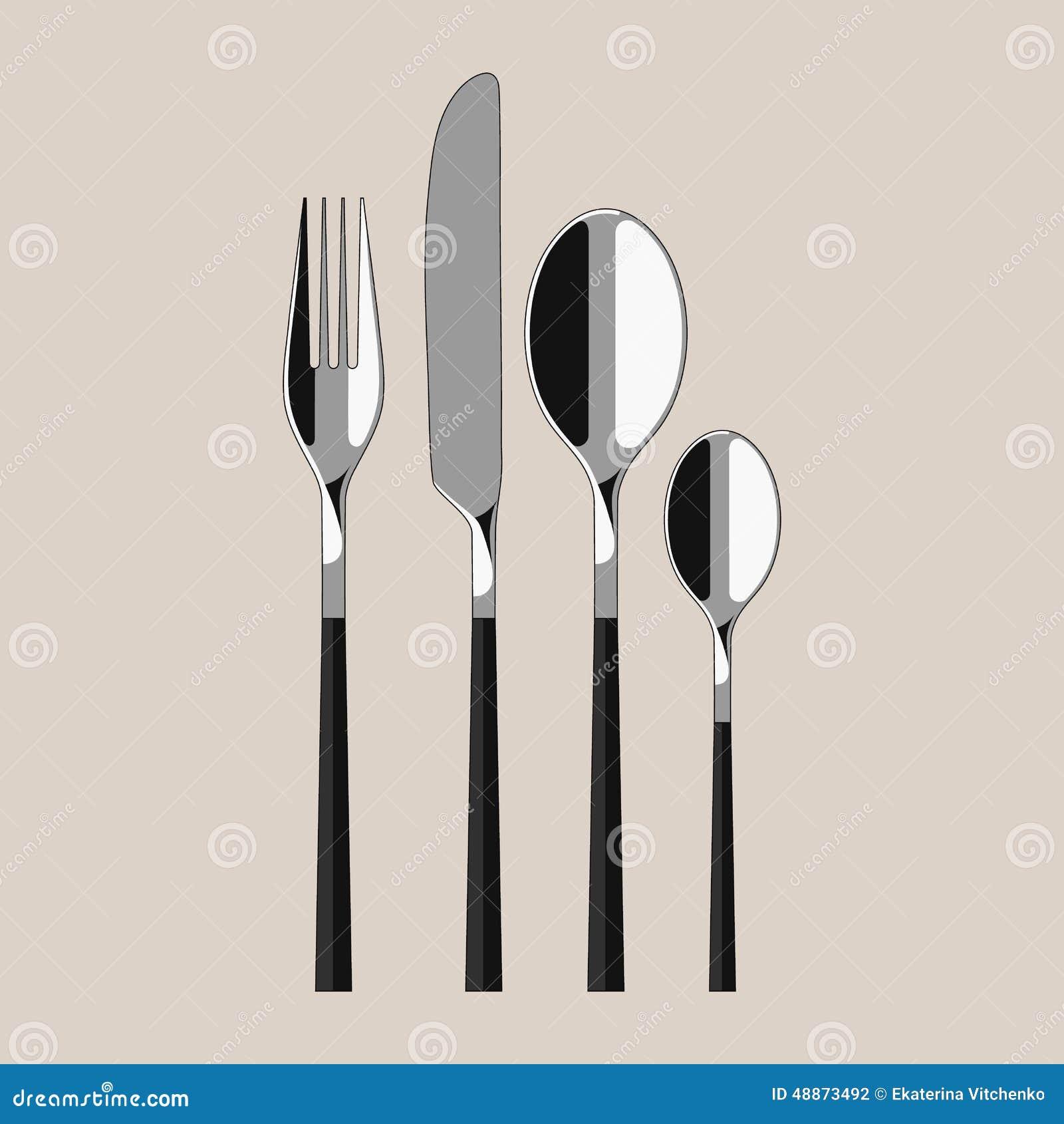 modern cutlery stock vector  image  - cutlery kitchen modern