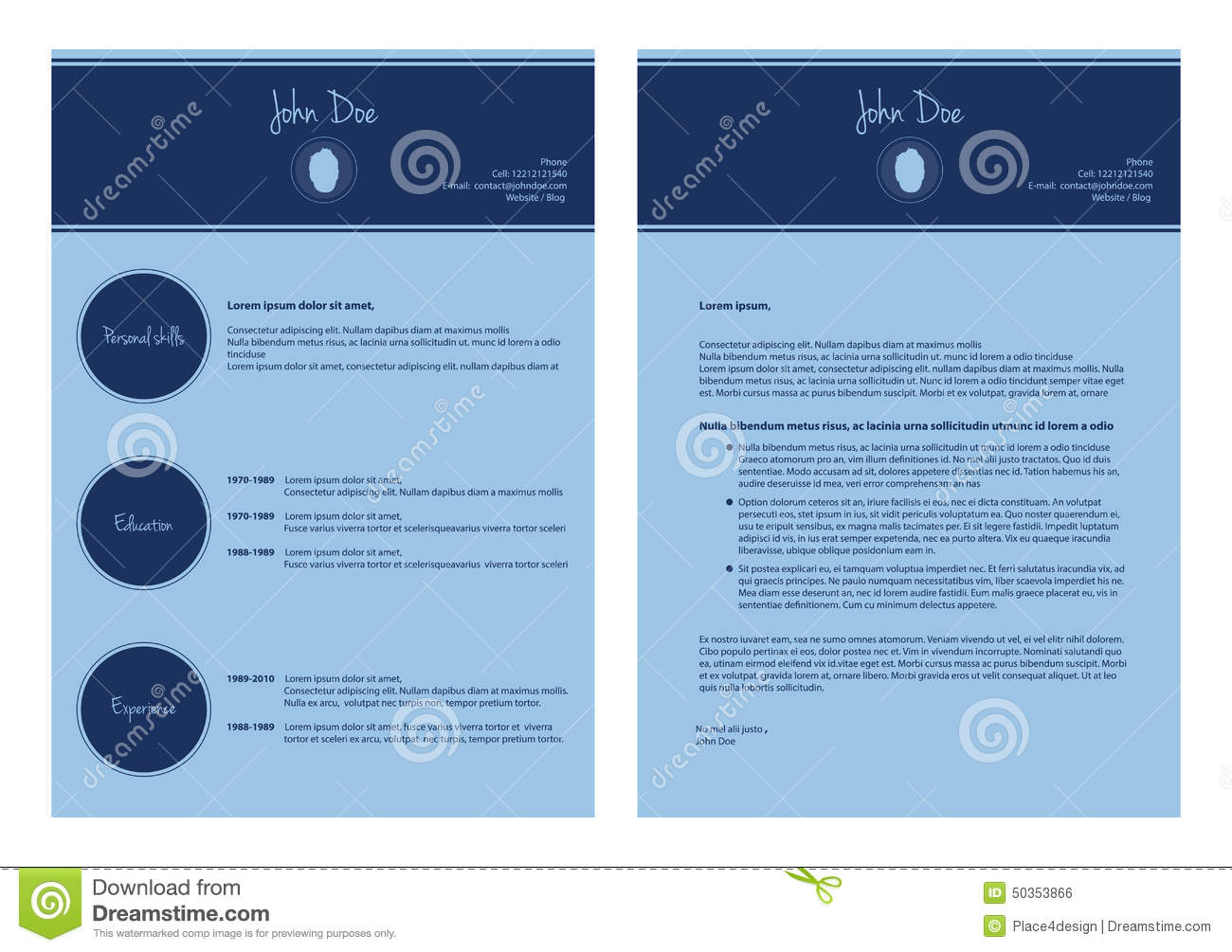 modern cv template stock illustration image  modern cv template