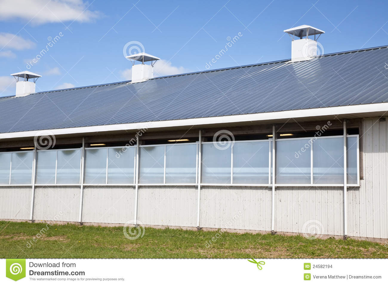 Modern Dairy Barn Stock Photo Image Of Outside