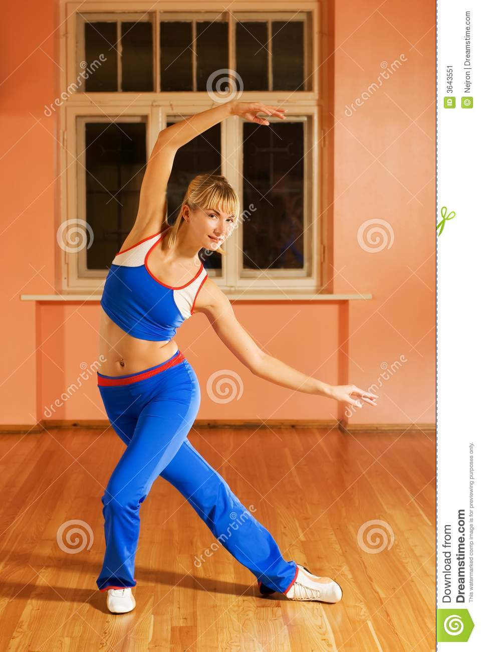 Download Modern dance trainer stock image. Image of blond, blue - 3643551