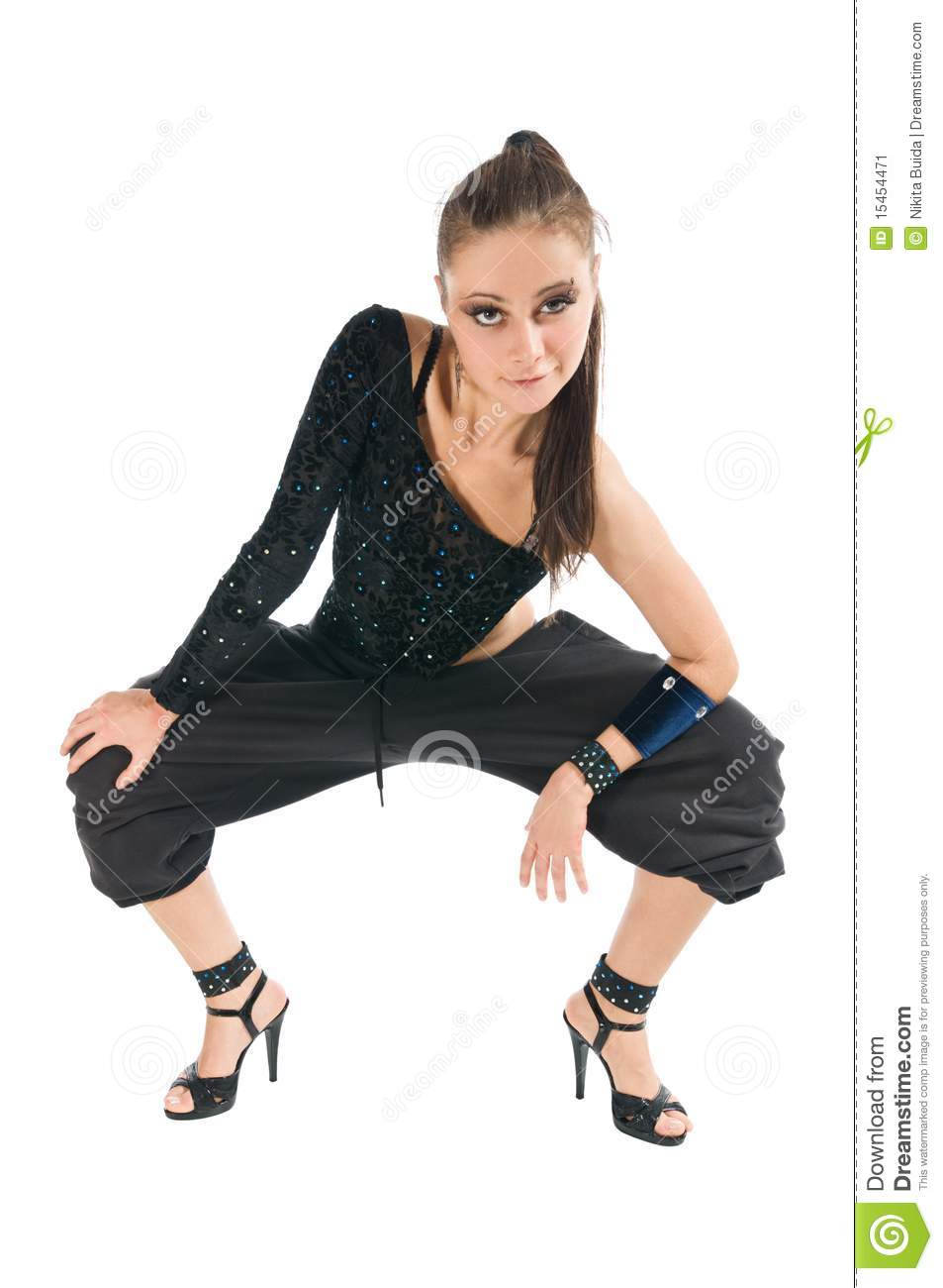modern dancer wearing high heels stock image image 15454471. Black Bedroom Furniture Sets. Home Design Ideas