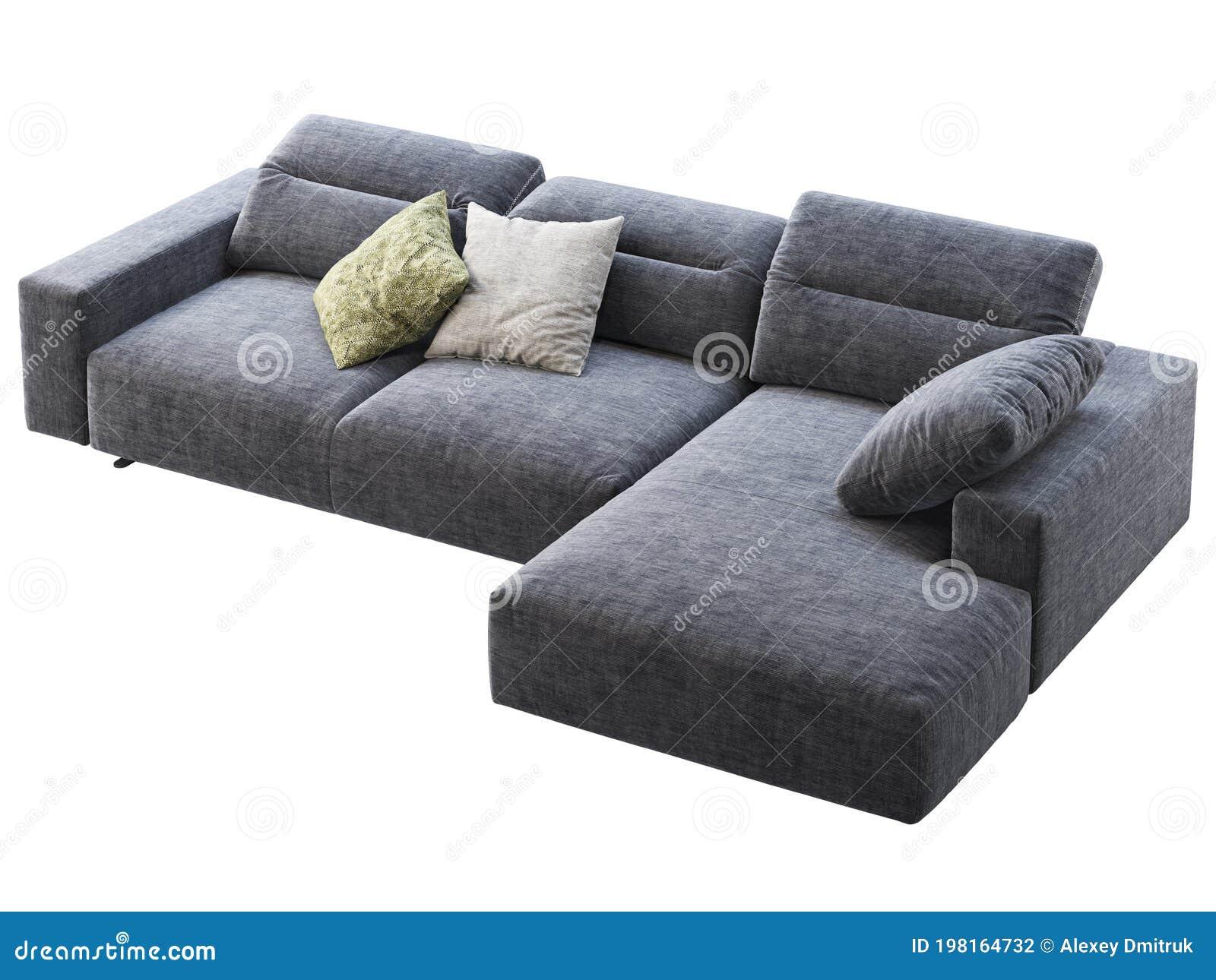 Modern Dark Blue Fabric Chaise Lounge Sofa With Adjustable Backrest 3d Render Stock Illustration Illustration Of Colorful Model 198164732