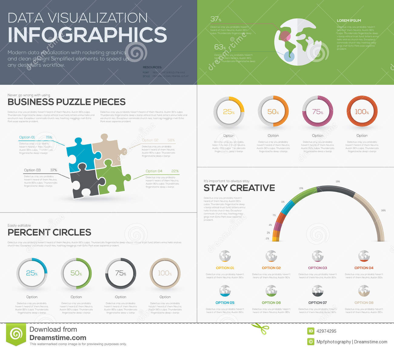 Jigsaw infographics vector business puzzle piece fresh template modern data visualization infographics with jigsaw puzzle pieces royalty free stock photo publicscrutiny Images