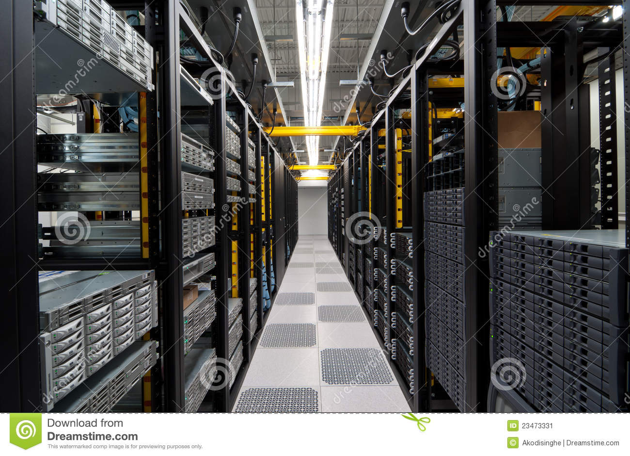 Download Modern datacenter stock image. Image of processor, attached - 23473331