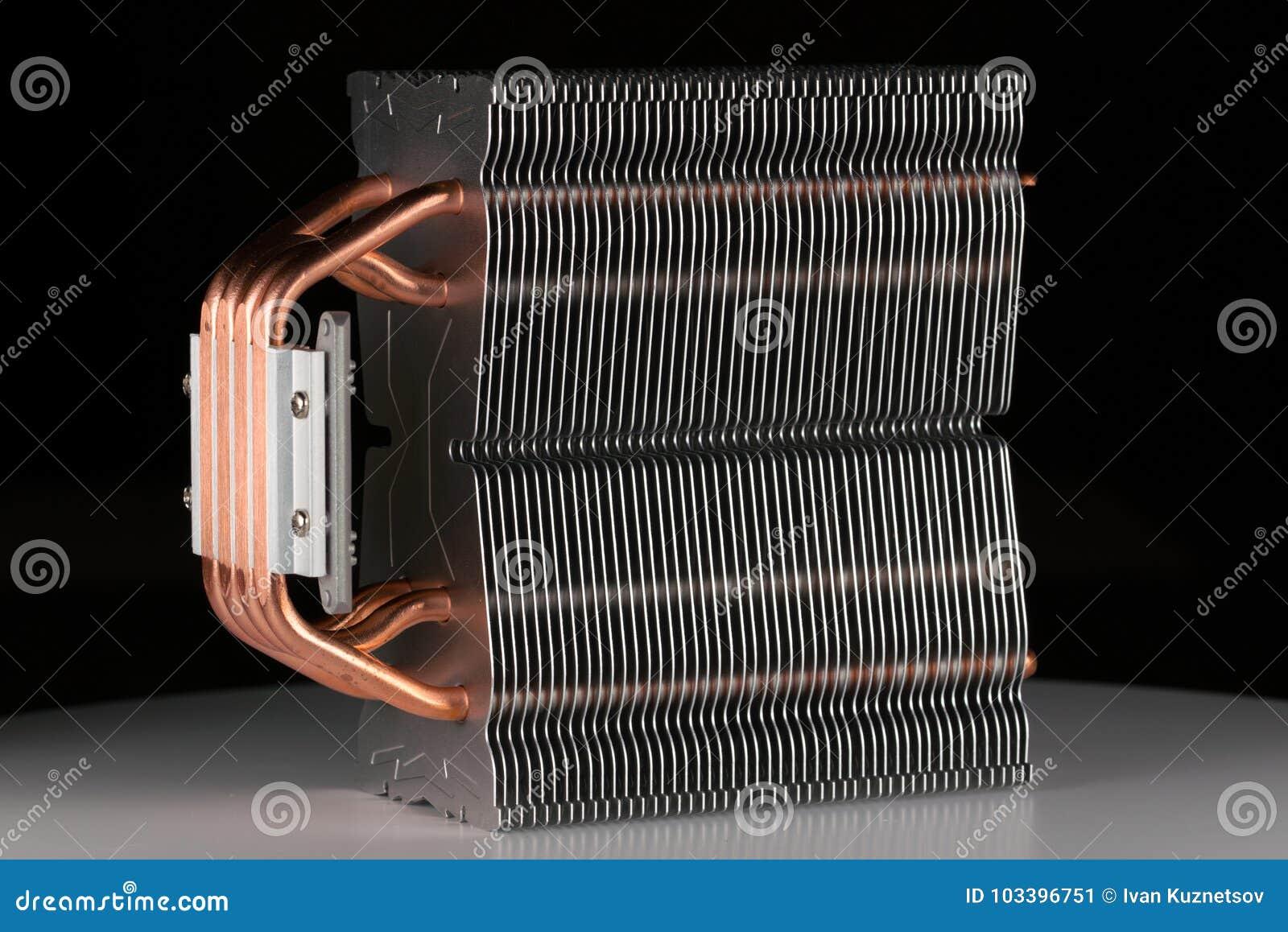 Modern datorprocessorkylare eller element eller kylfläns