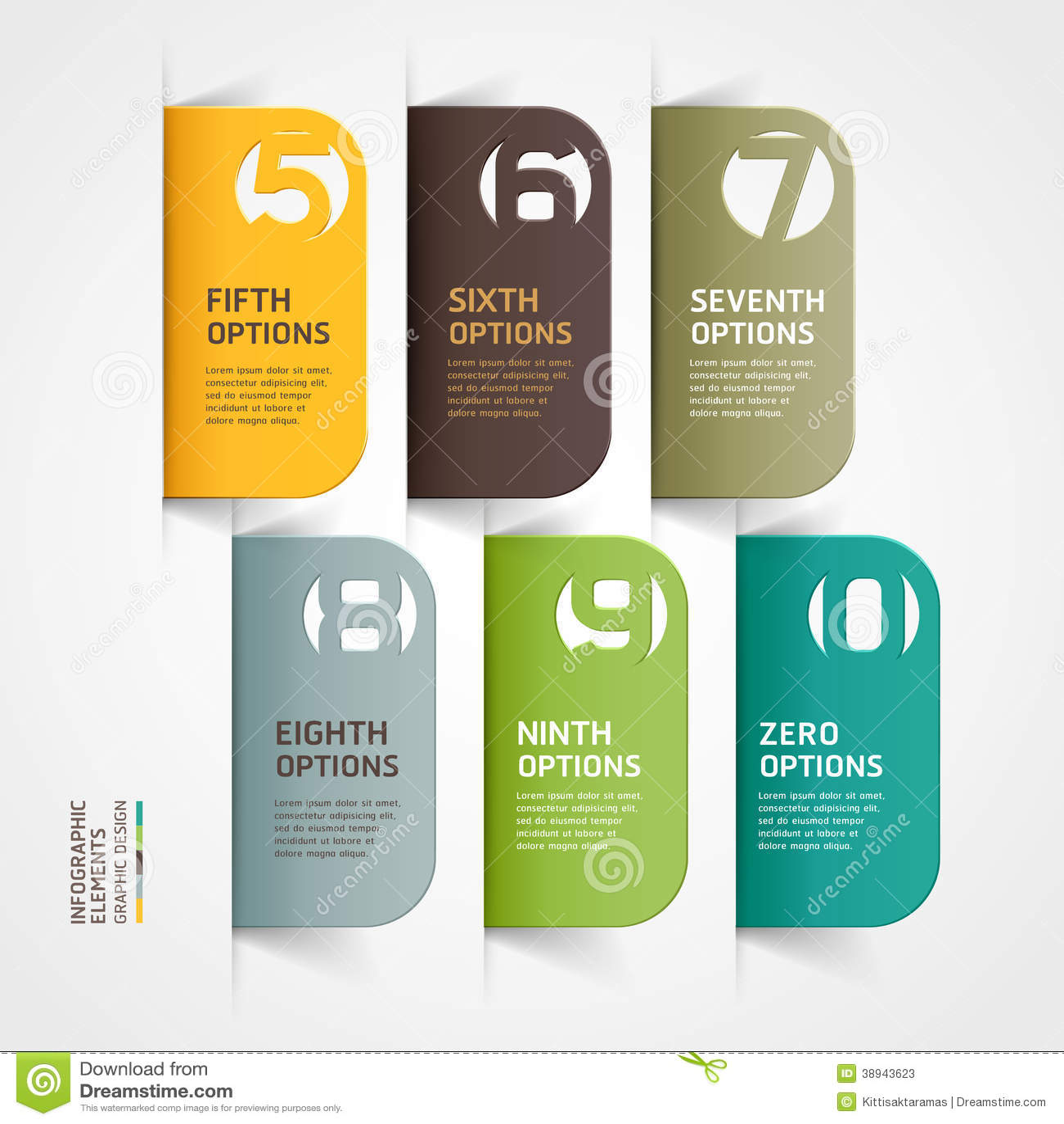 Modern de optiesmalplaatje van het infographicsaantal.