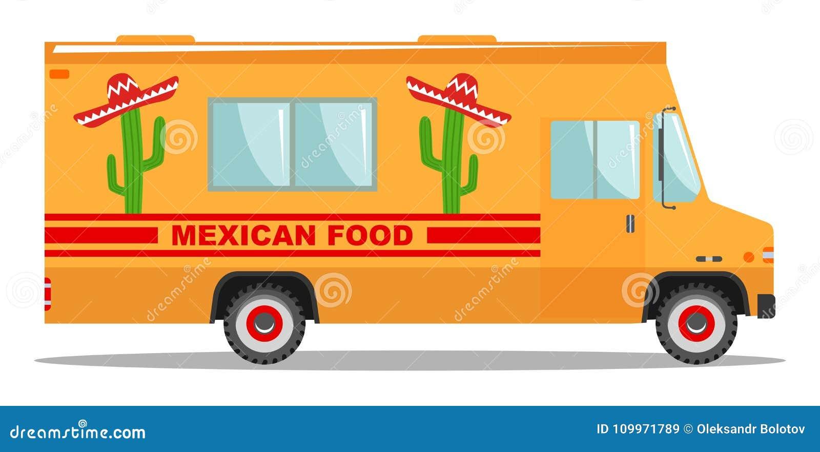 Flat Design Vector Cartoon Colorful Illustration Of Food