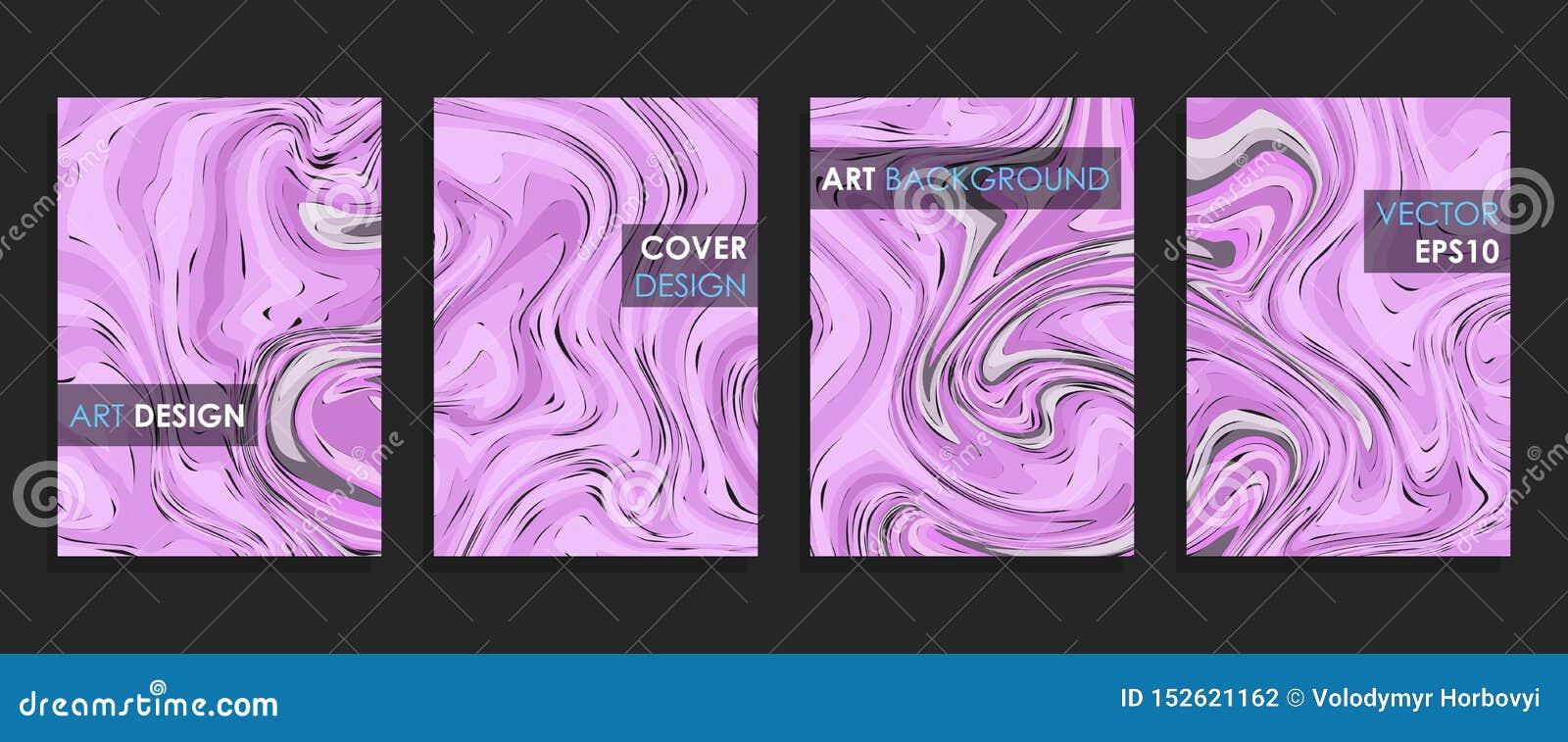 Modern design A4 Abstrakt begrepp marmorerar textur av kul?ra ljusa v?tskem?larf?rger