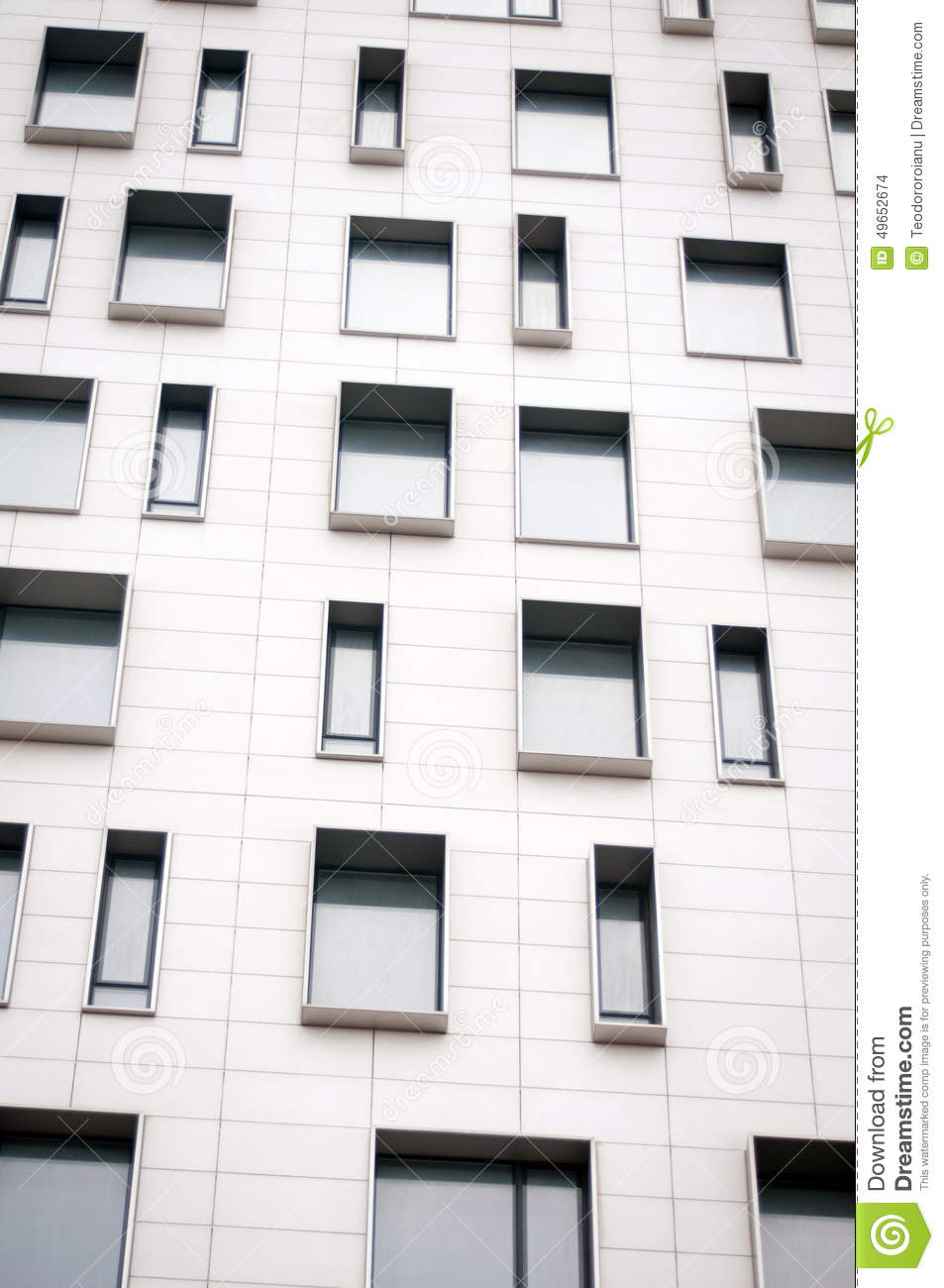 Modern design facade stock photo image of architect for Building window design