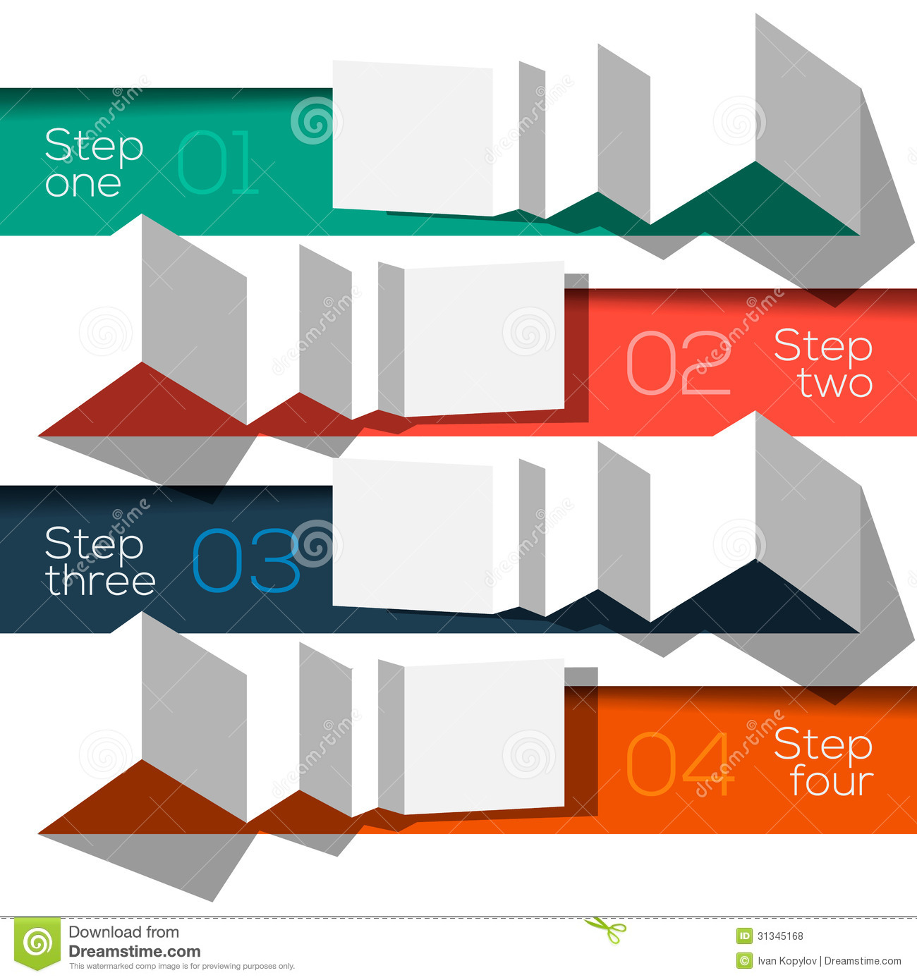 Modern design info graphic template origami styled stock for Free graphic design templates