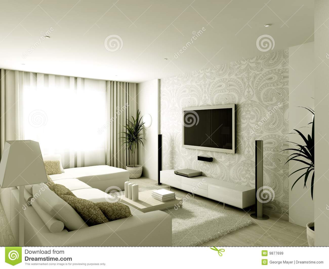 Modern Design Interior Of Living Room Royalty Free Stock Images Image 9877699