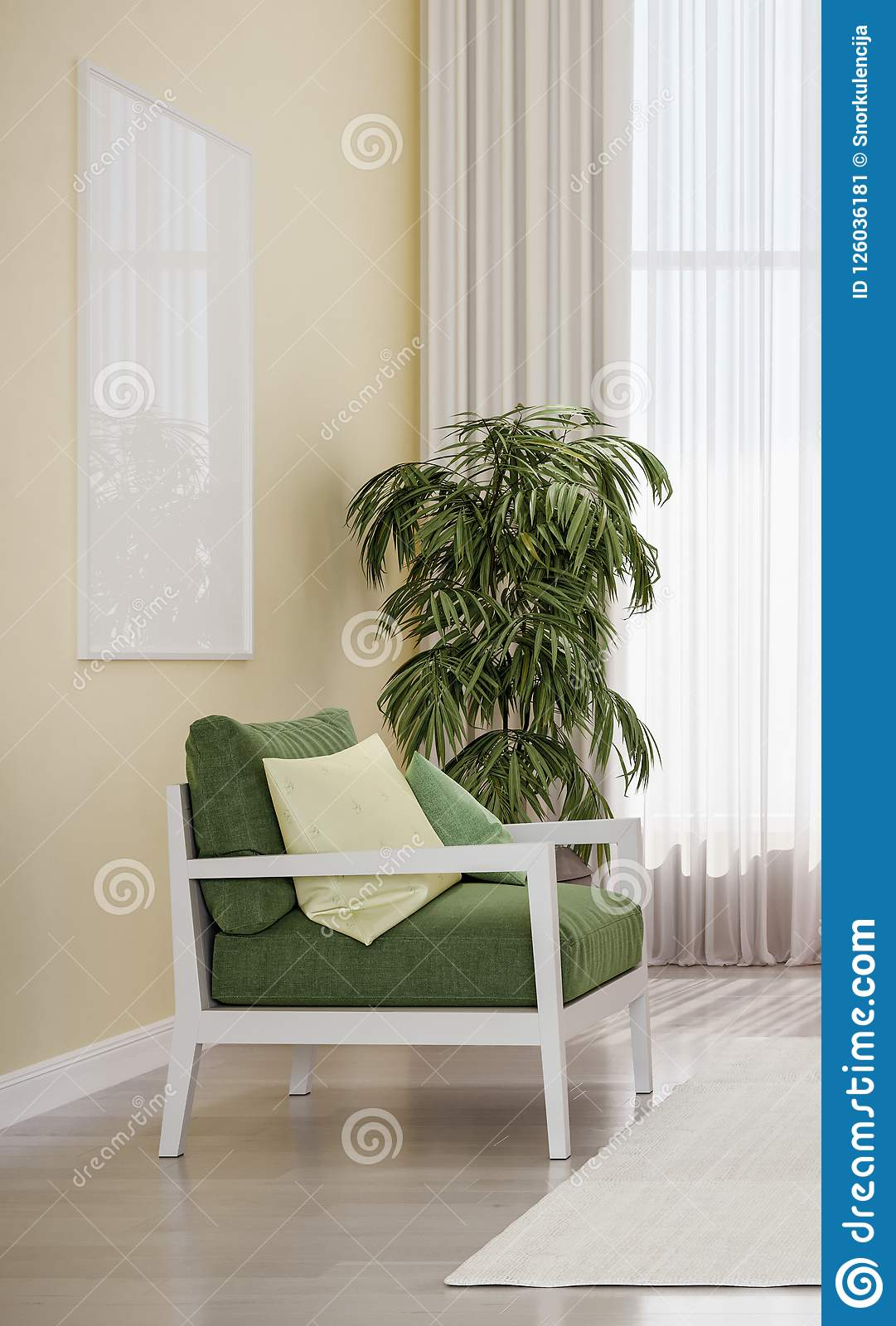 Fabulous Modern Design Interior Living Room Green Chair Stock Image Home Interior And Landscaping Ologienasavecom