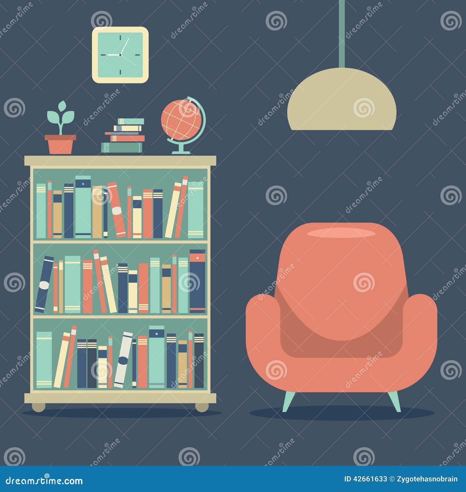 Rc Furniture Interior Design Stock Dealer ~ Vintage furniture sofa with globe royalty free stock image