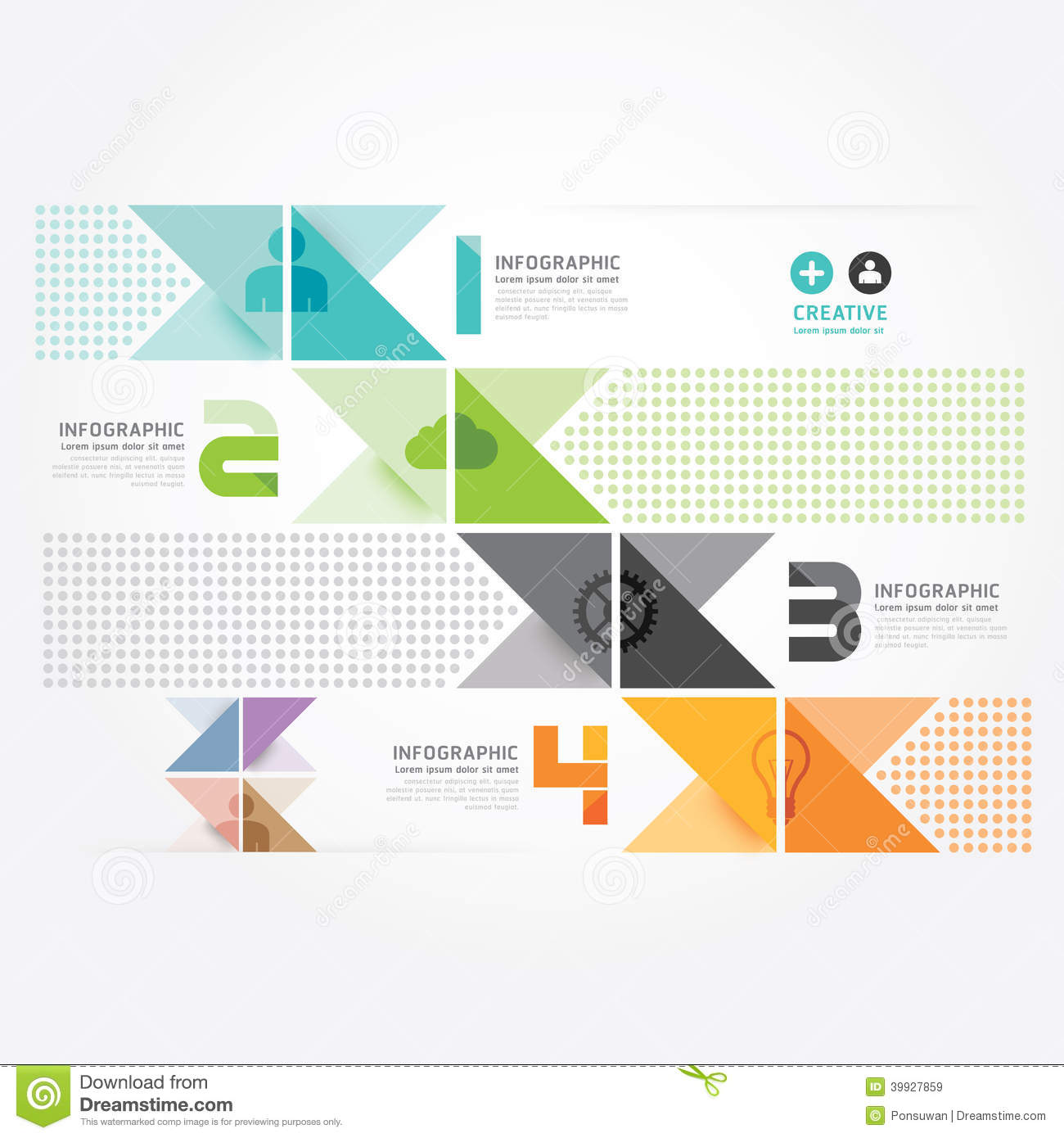 ... Minimal Style Info Graphic Template. Stock Vector - Image: 39927859