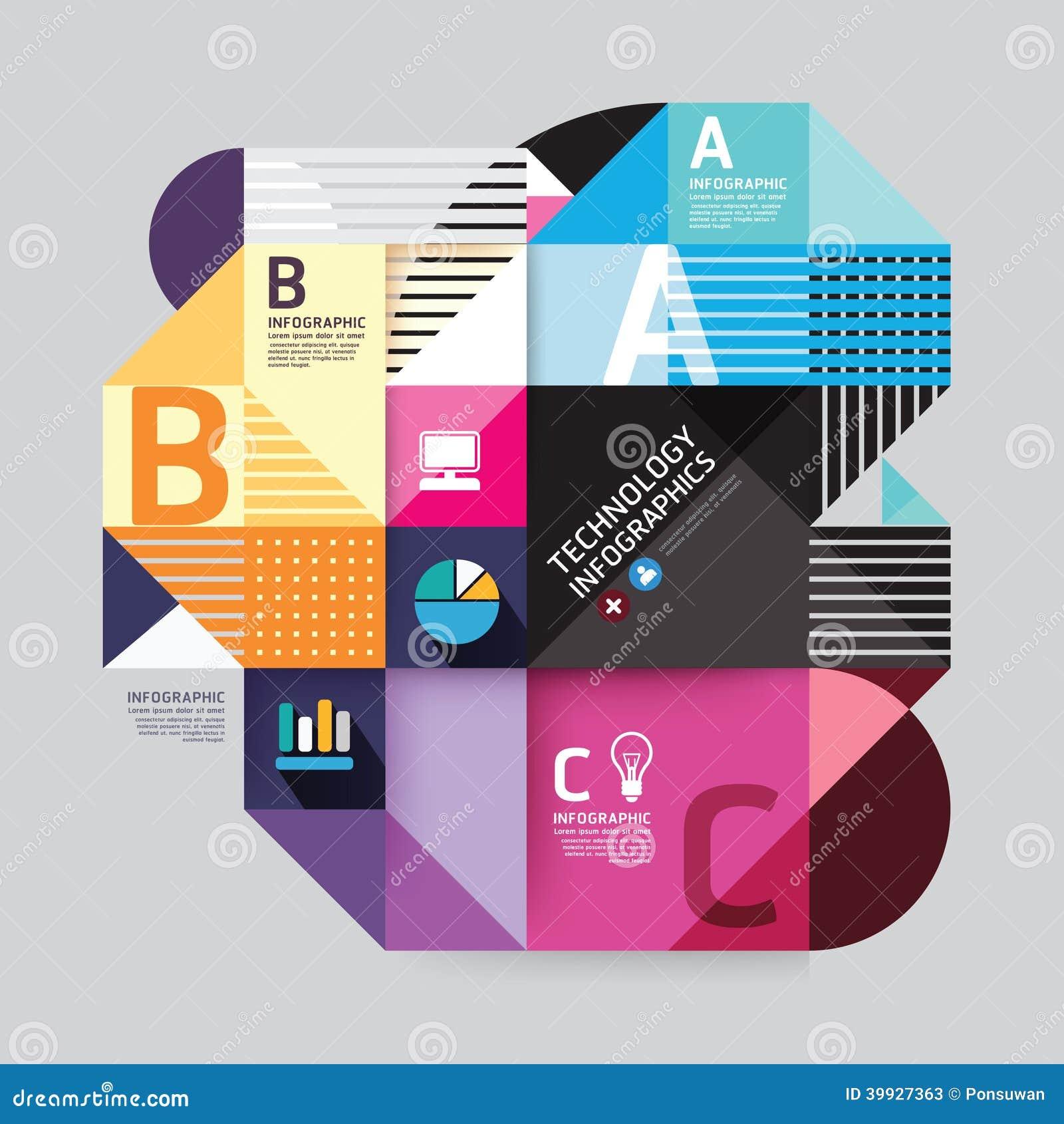 Modern Design Minimal Style Infographic Template. Stock ...