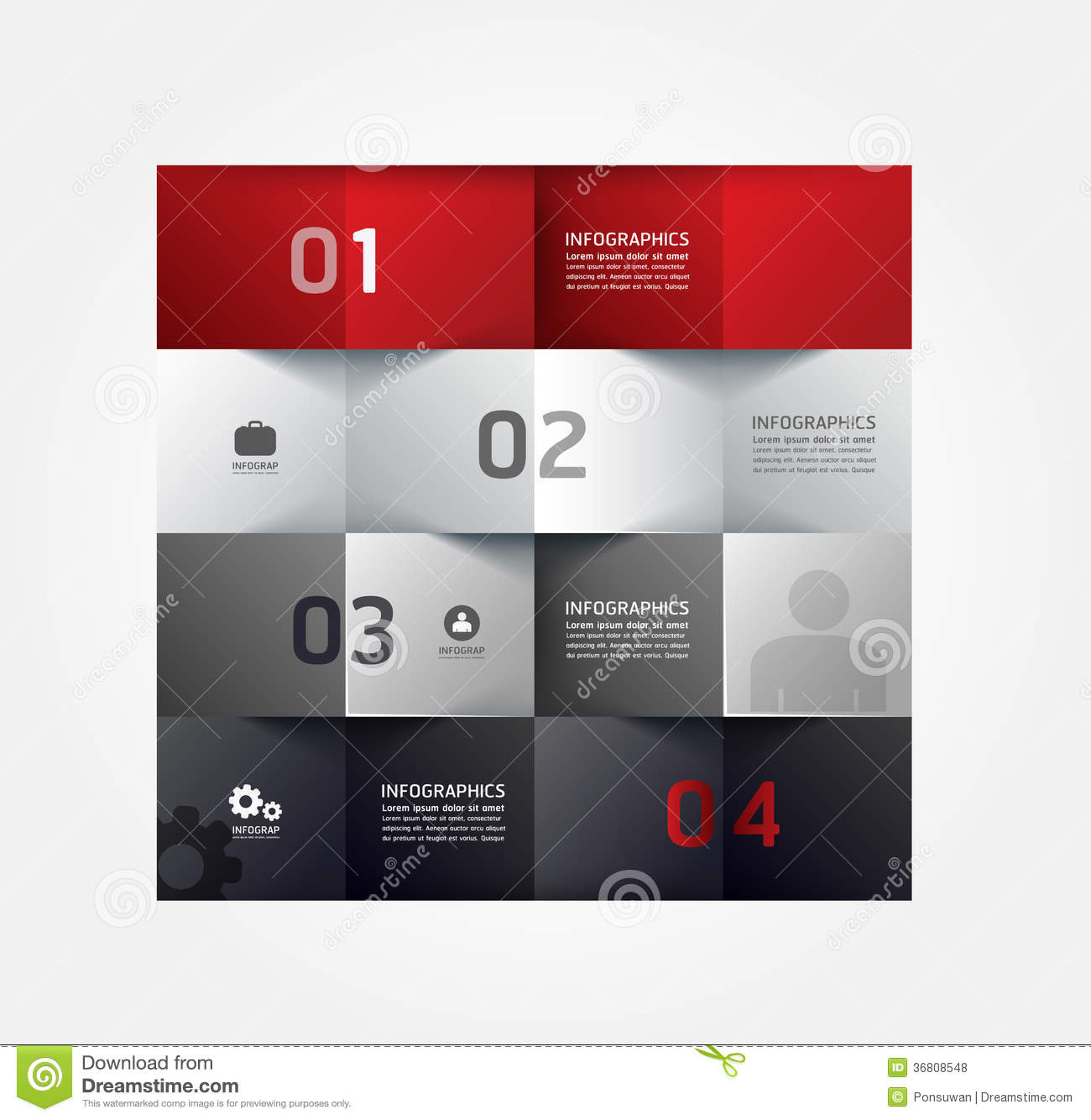 Graphic Design Styles: Modern Design Minimal Style Infographic Template Stock