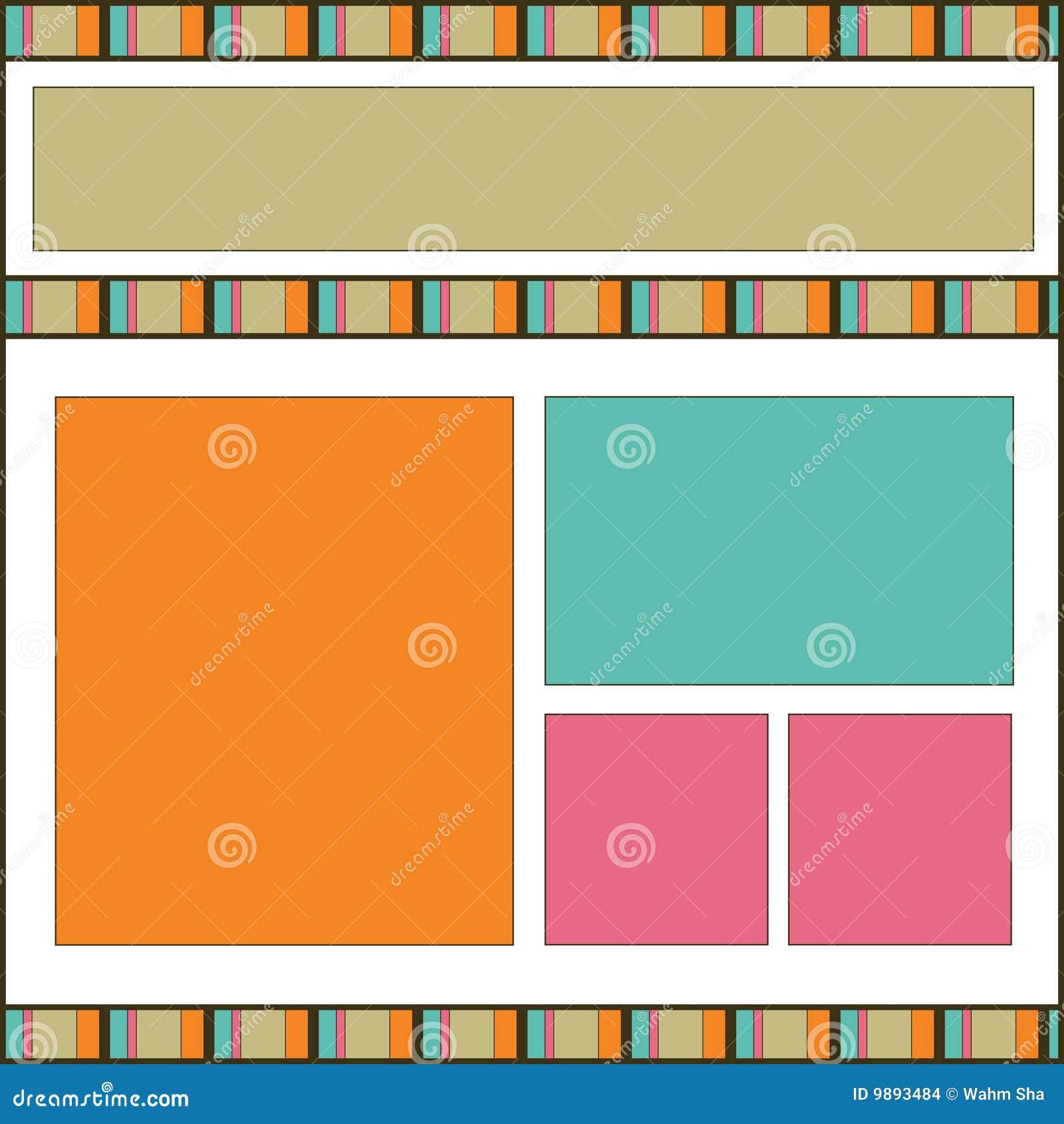 How to design scrapbook layouts - Modern Design Scrapbook Page