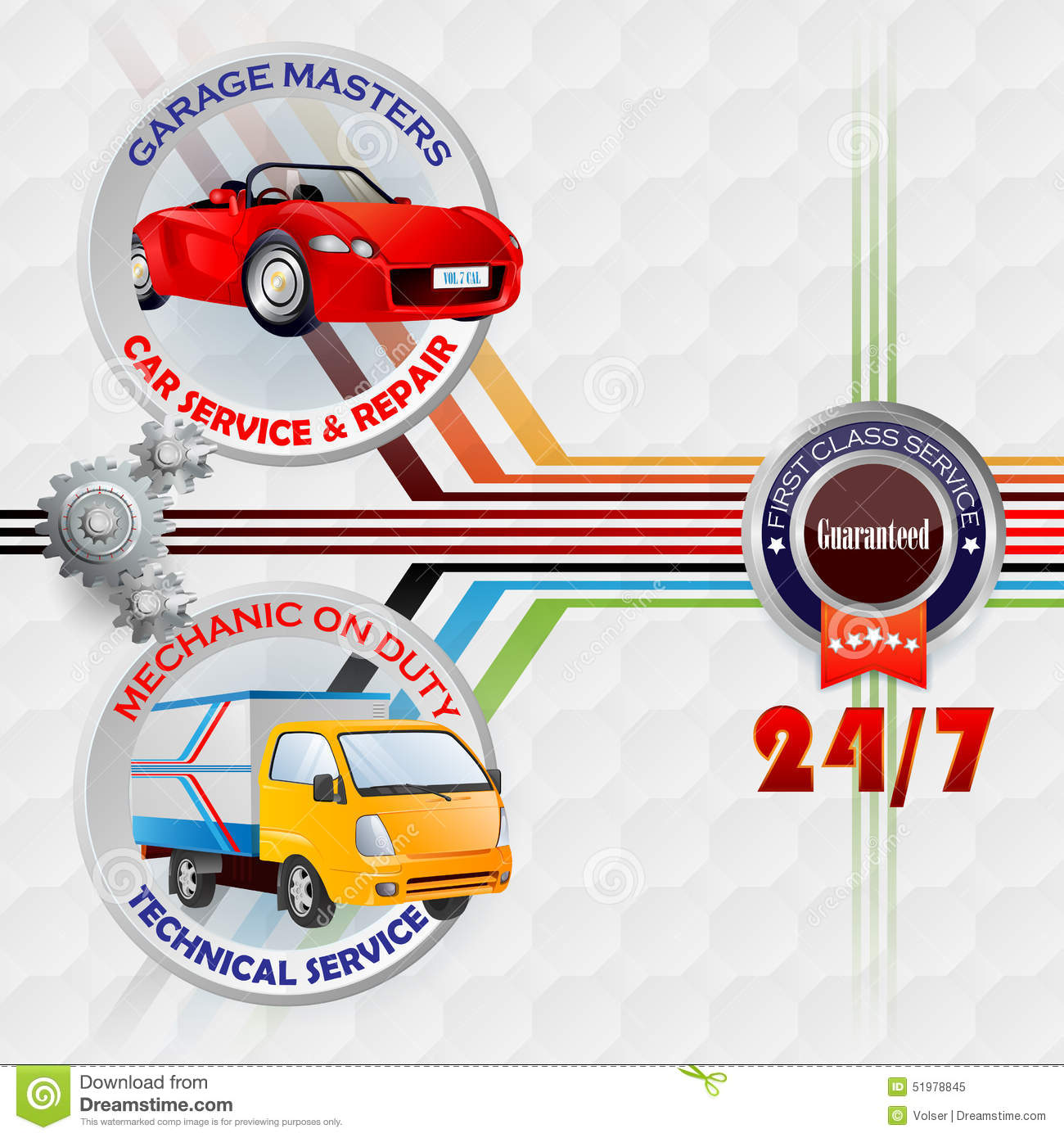 Modern design template for Garage, Car service and repair sign