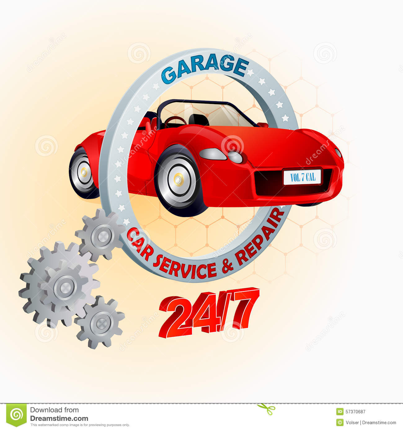 modern design template for garage car service and repair sign