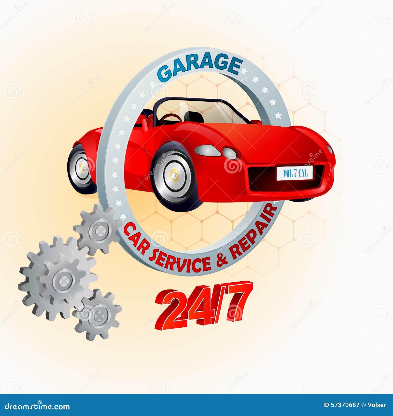 Modern Garage Signs : Modern design template for garage car service and repair