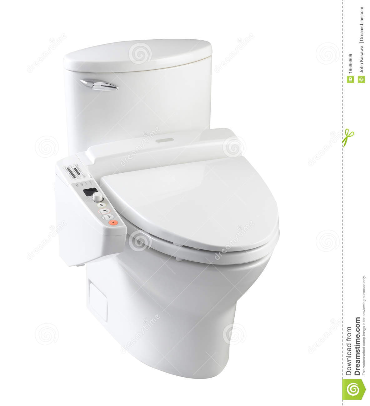 Modern Design Of Toilet Bowl Isolated Stock Image Image