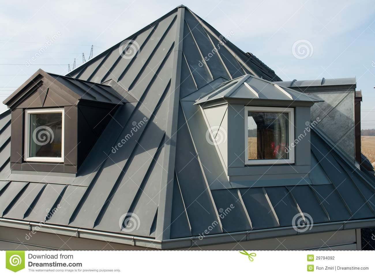 Modern Vertical Roof Windows Stock Photo Image Of Frame