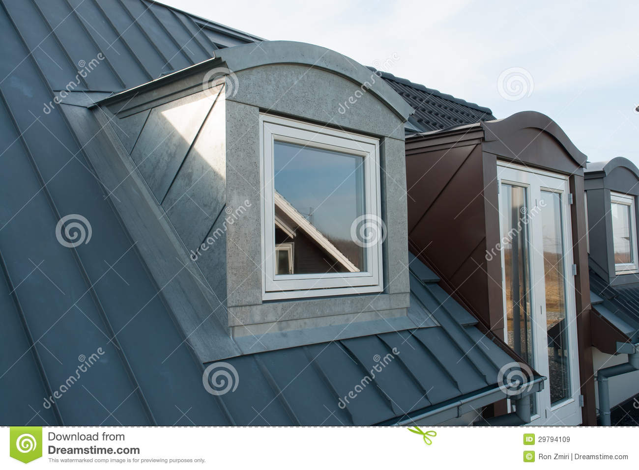Modern vertical roof windows stock image image of for Window roof design
