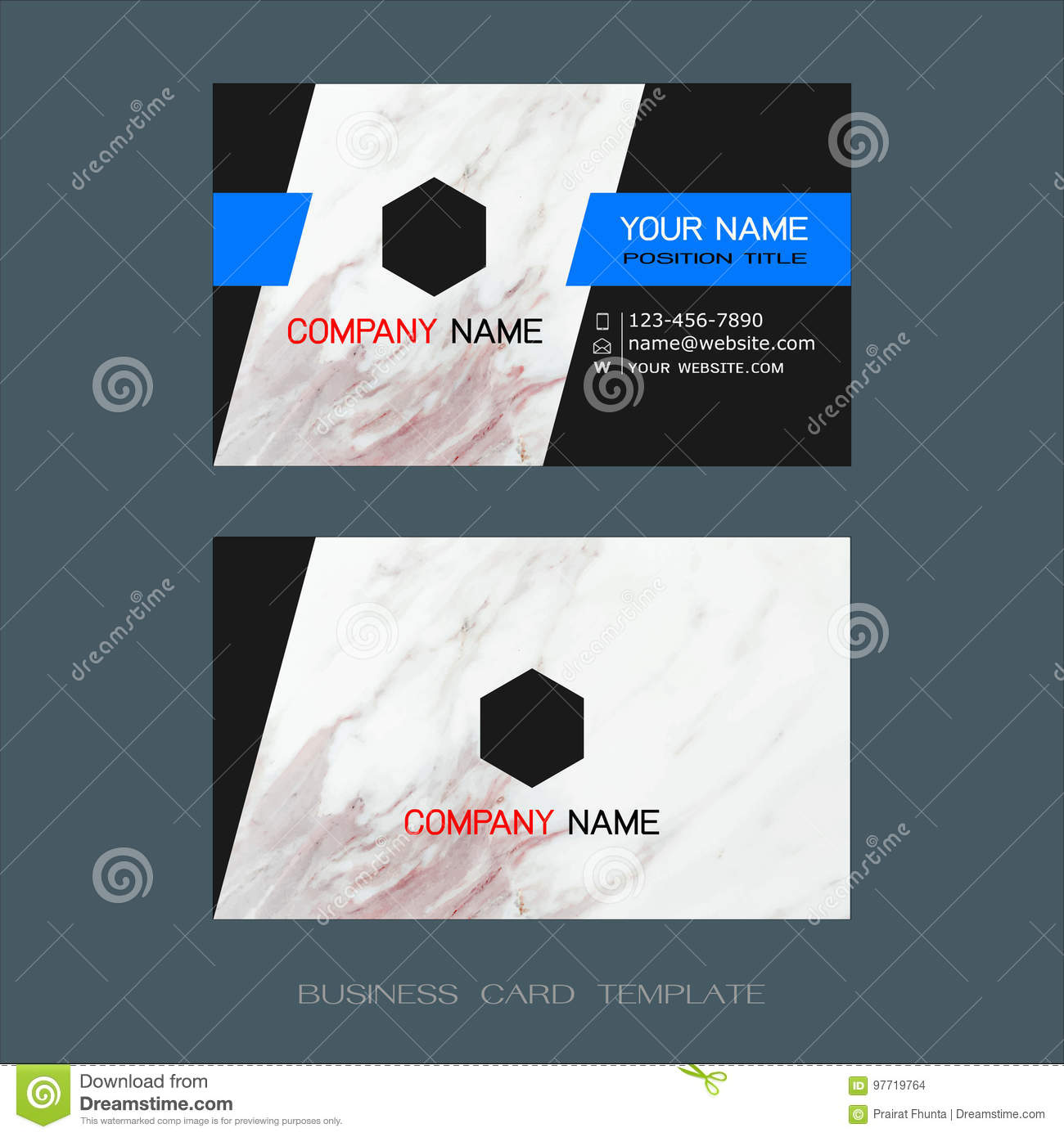 Modern Designer Business Card Layout Templates Stock Vector - Business card layout template
