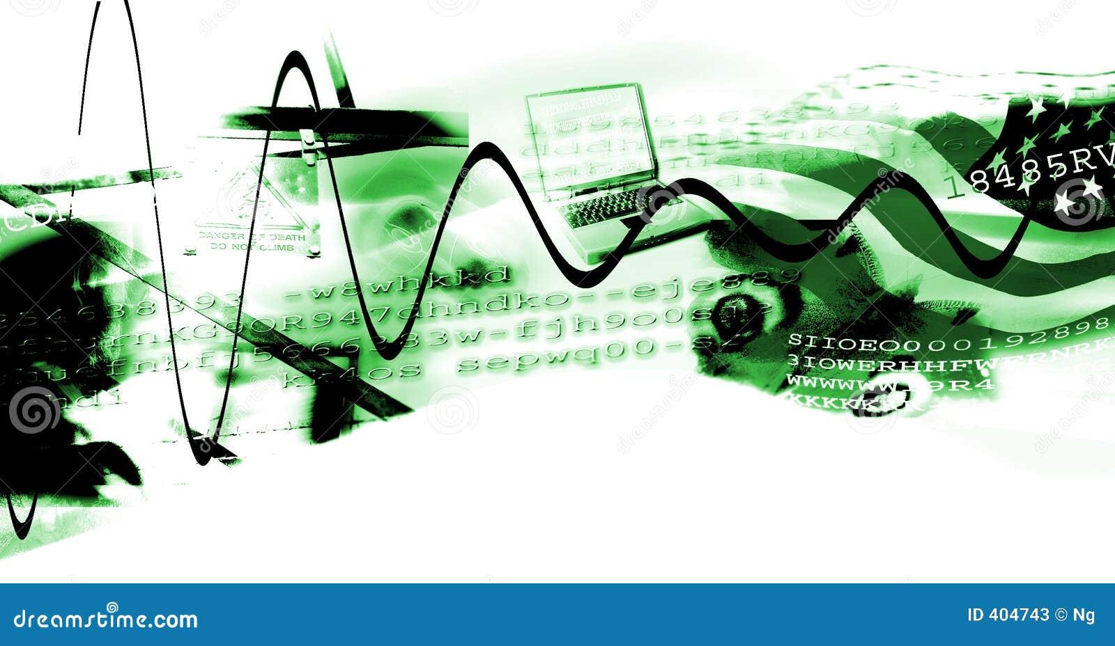 Modern digital age collage