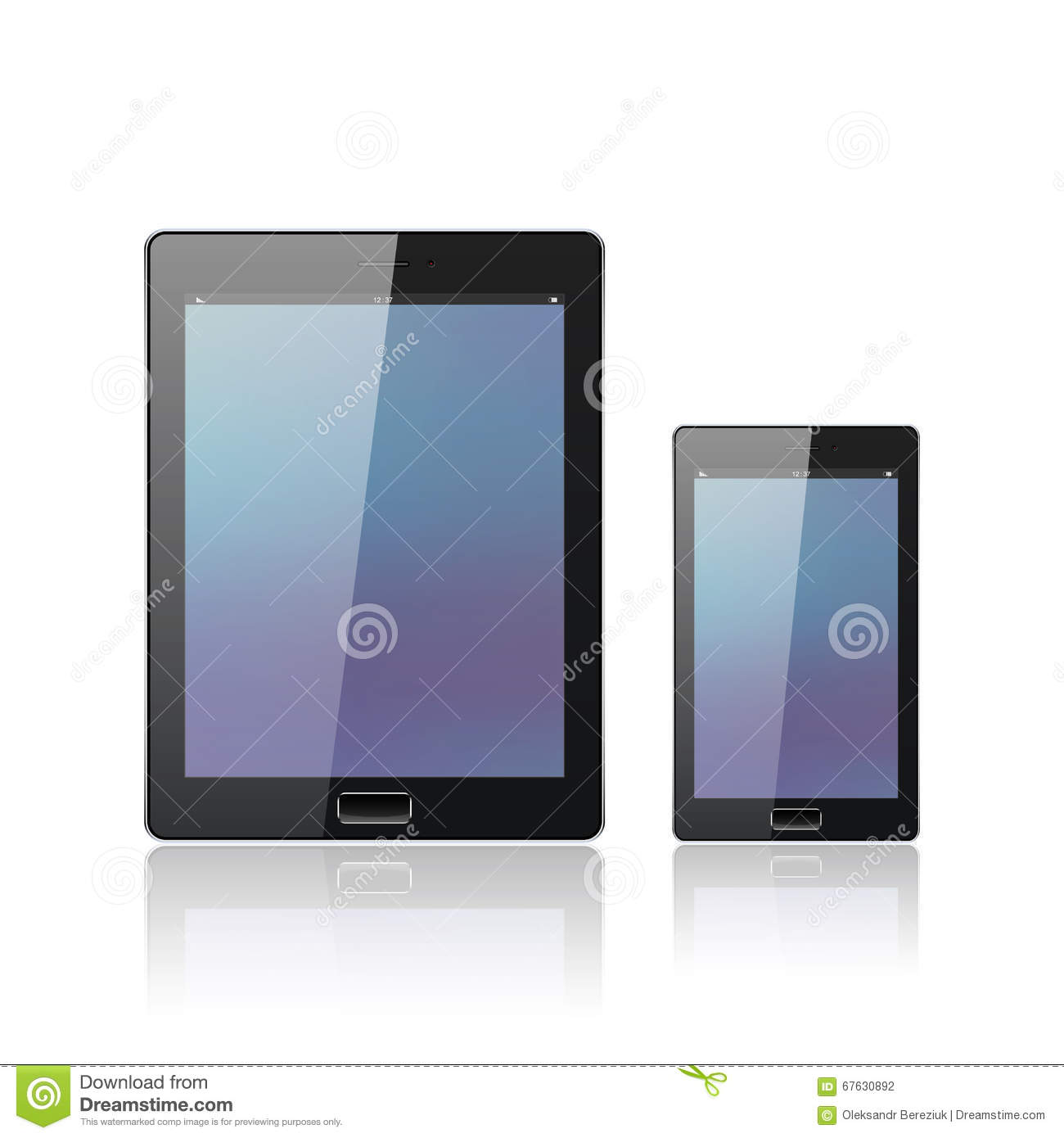 Astounding Modern Digital Tablet Pc With Mobile Smartphone On The White Download Free Architecture Designs Scobabritishbridgeorg