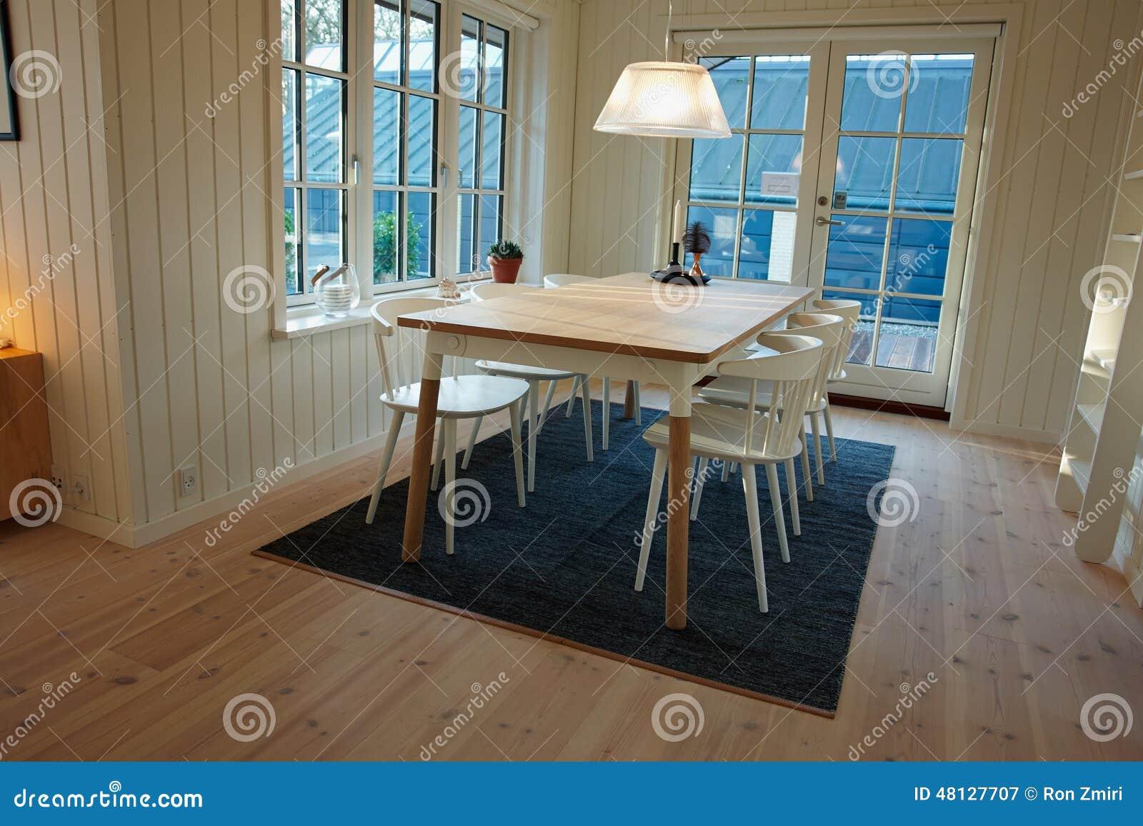 Modern Dining Room Danish Scandinavian Interior Design Stock Image ...