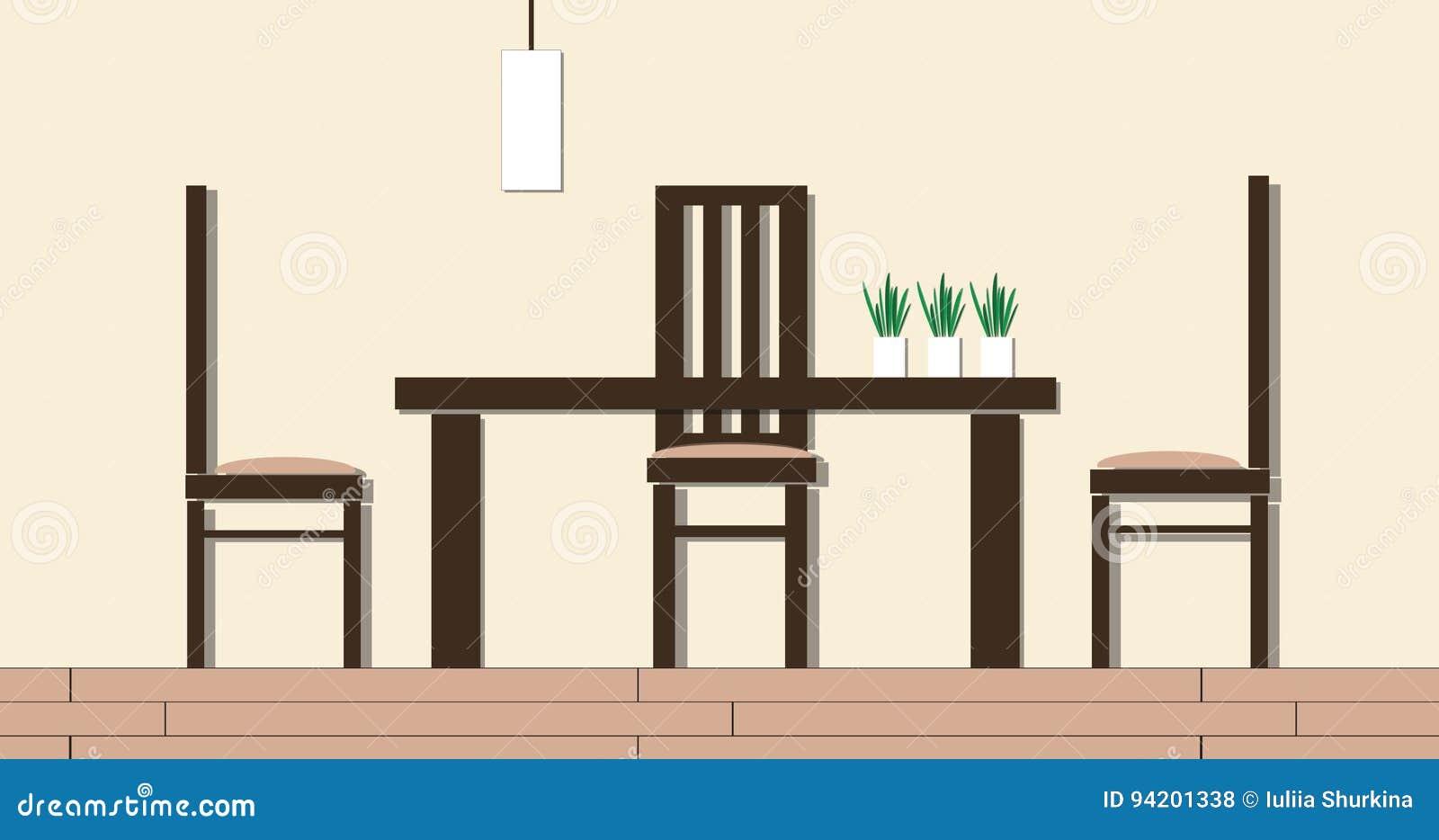 Modern Dining Room Interior Cartoon Animation In 2D 4k UltraHD Stock Footage