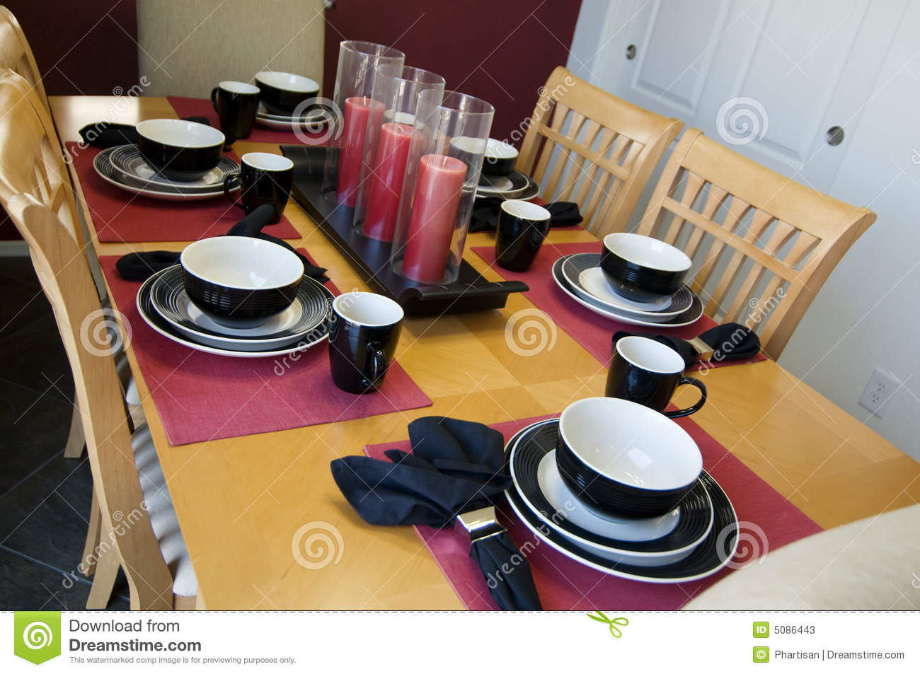 Modern Dinner Table Setting Stock Photos - Image: 5086443