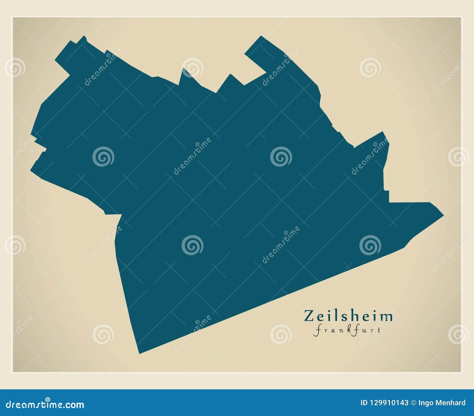 Modern District Map - Frankfurt Zeilsheim Germany Stock Illustration ...