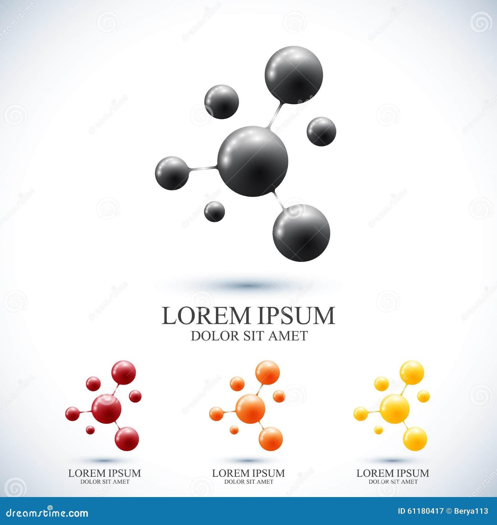 Modern dna för uppsättninglogotypsymbol och molekyl Vektormall för medicin, vetenskap, teknologi, kemi, bioteknik