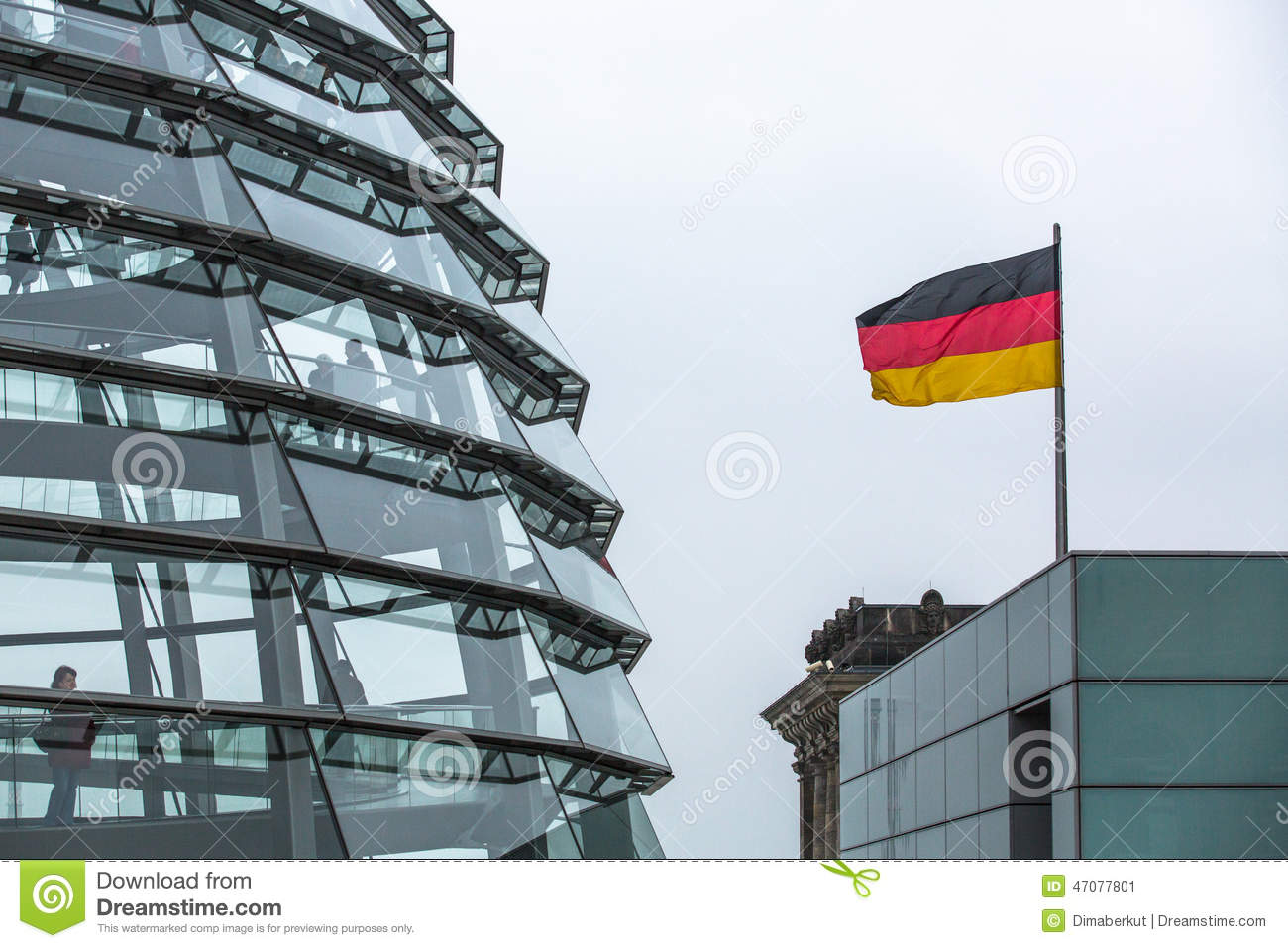 modern dome on the roof of the reichstag editorial photo image of 2014 europe 47077801. Black Bedroom Furniture Sets. Home Design Ideas