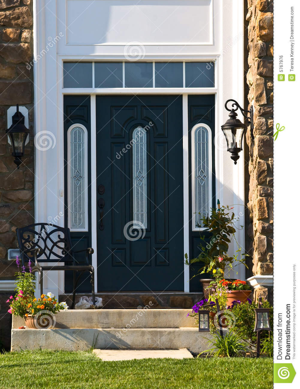 Modern Doorway Stock Photo Image Of Plants Front Entranceway
